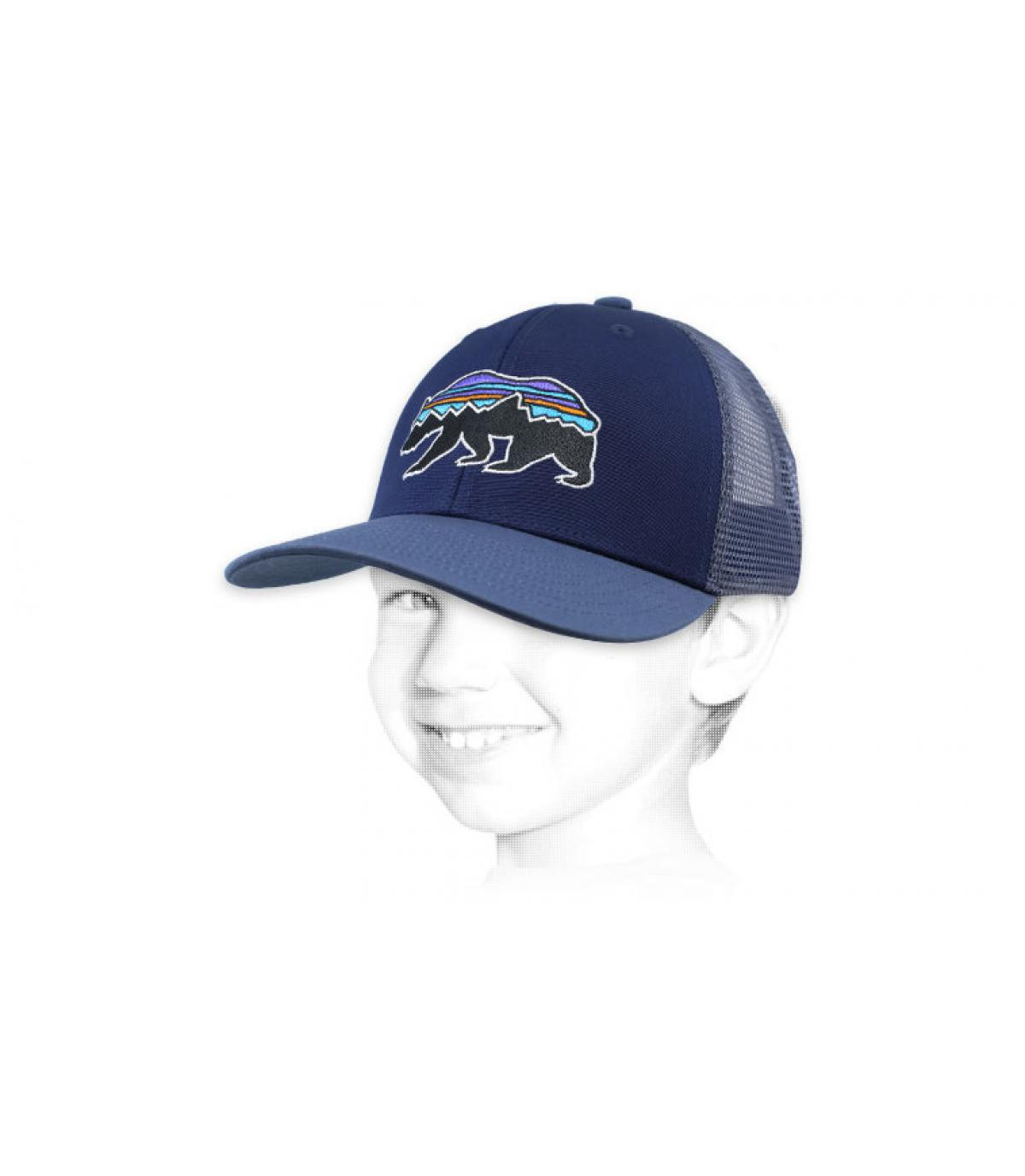 casquette enfant Patagonia bleu