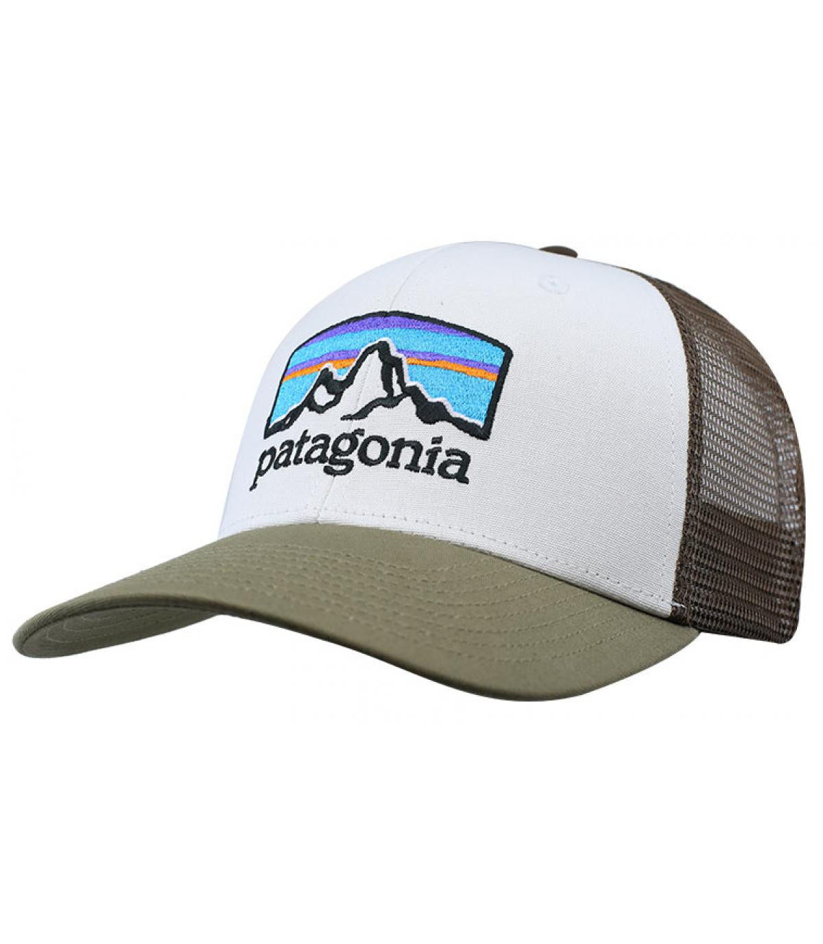 trucker vert blanc Patagonia