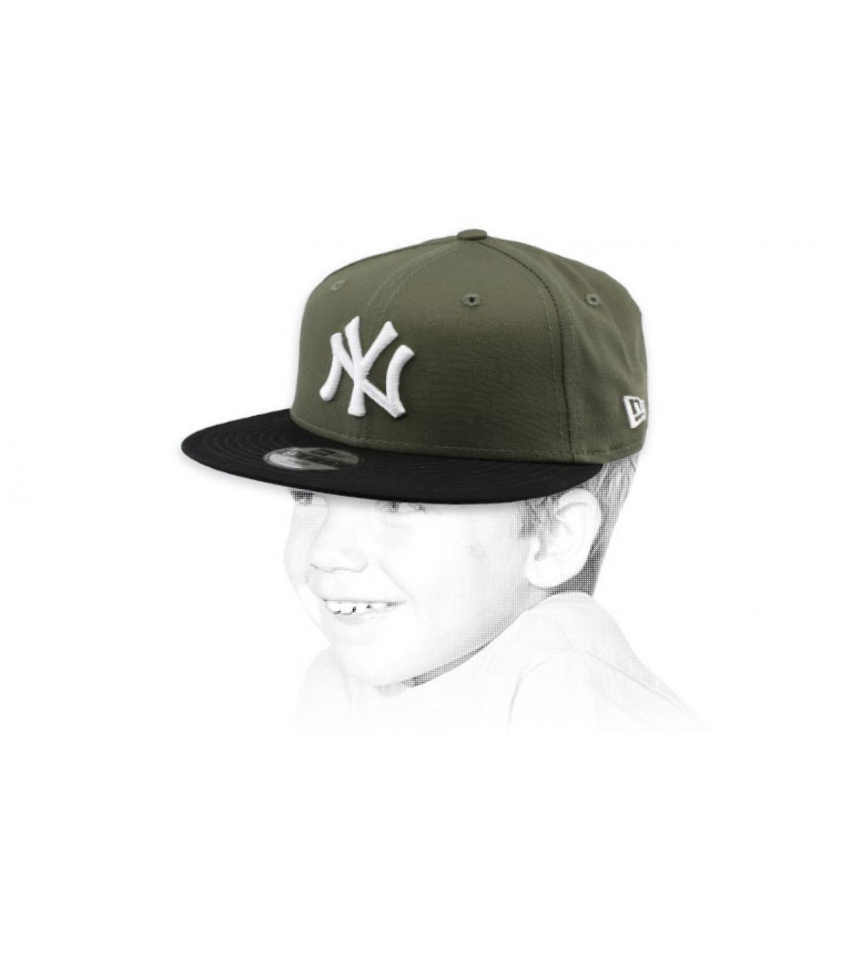 casquette enfant NY vert noir