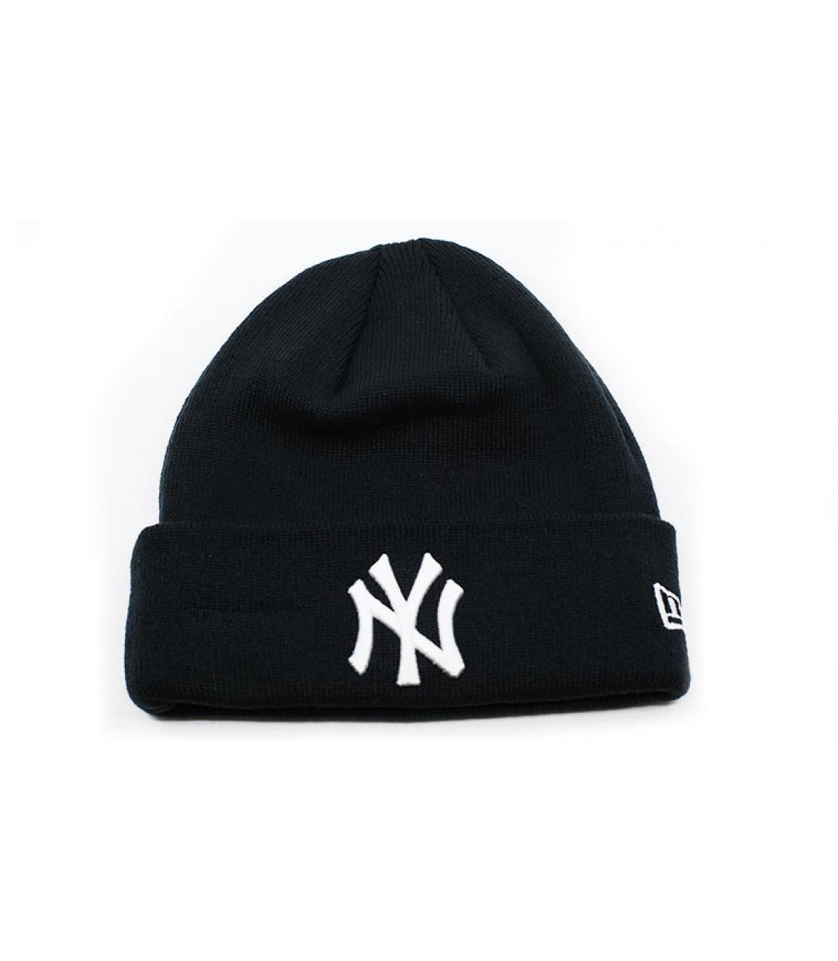 bonnet revers NY bleu