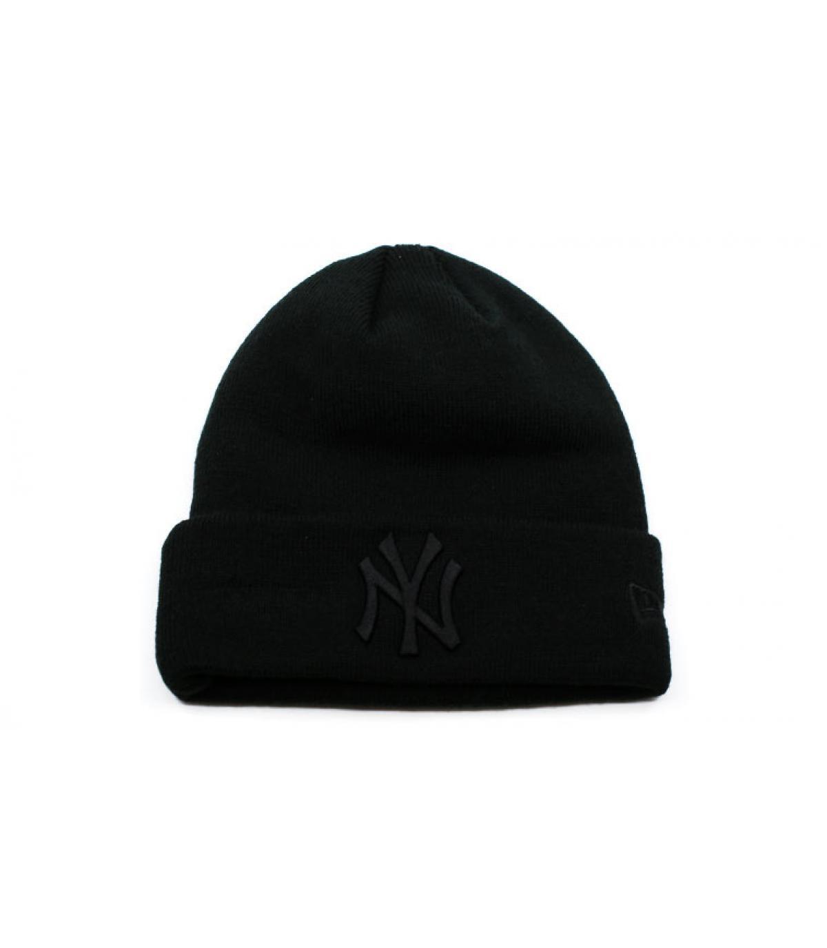 Détails Bonnet MLB Essential Cuff NY black - image 2