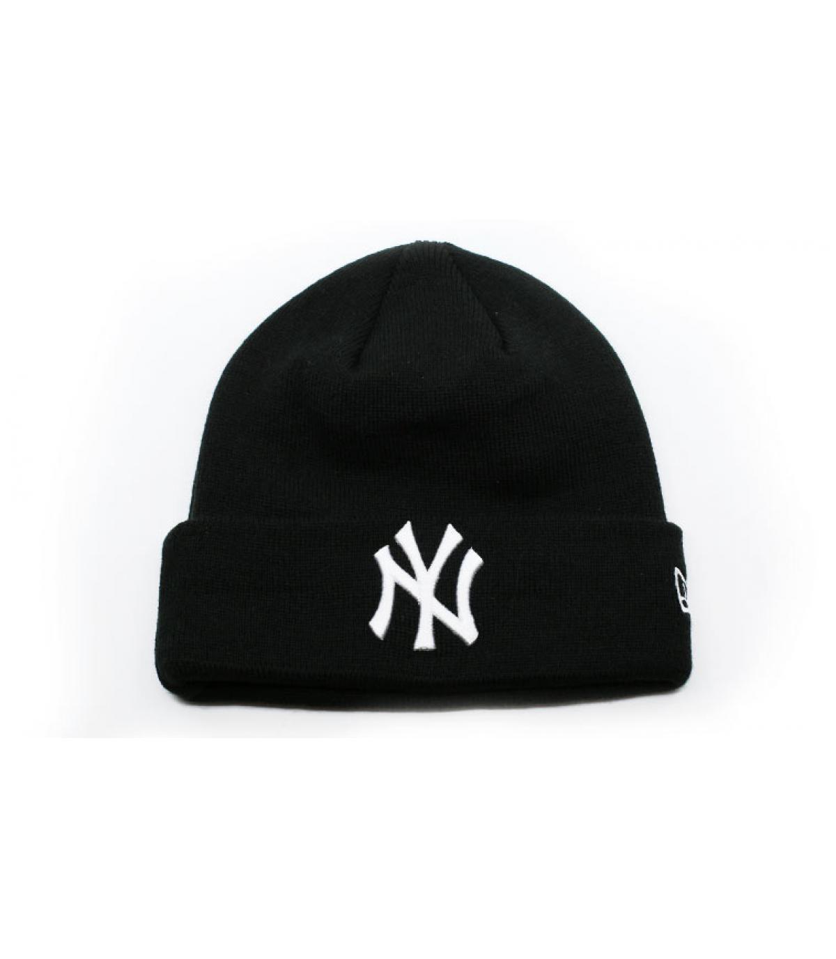 Détails Bonnet MLB Essential Cuff NY black white - image 2