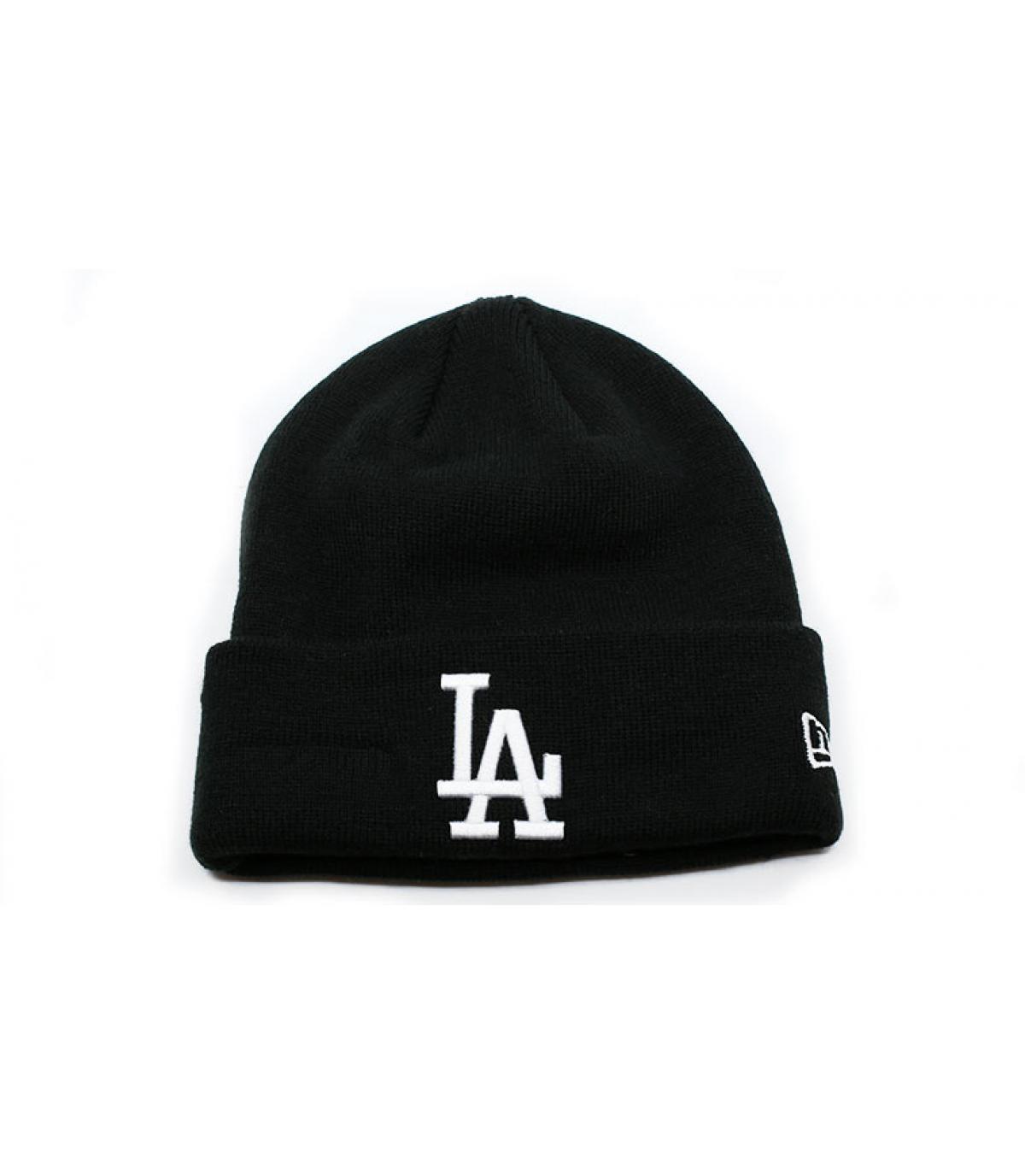 Détails Bonnet MLB Essential Cuff LA black white - image 2