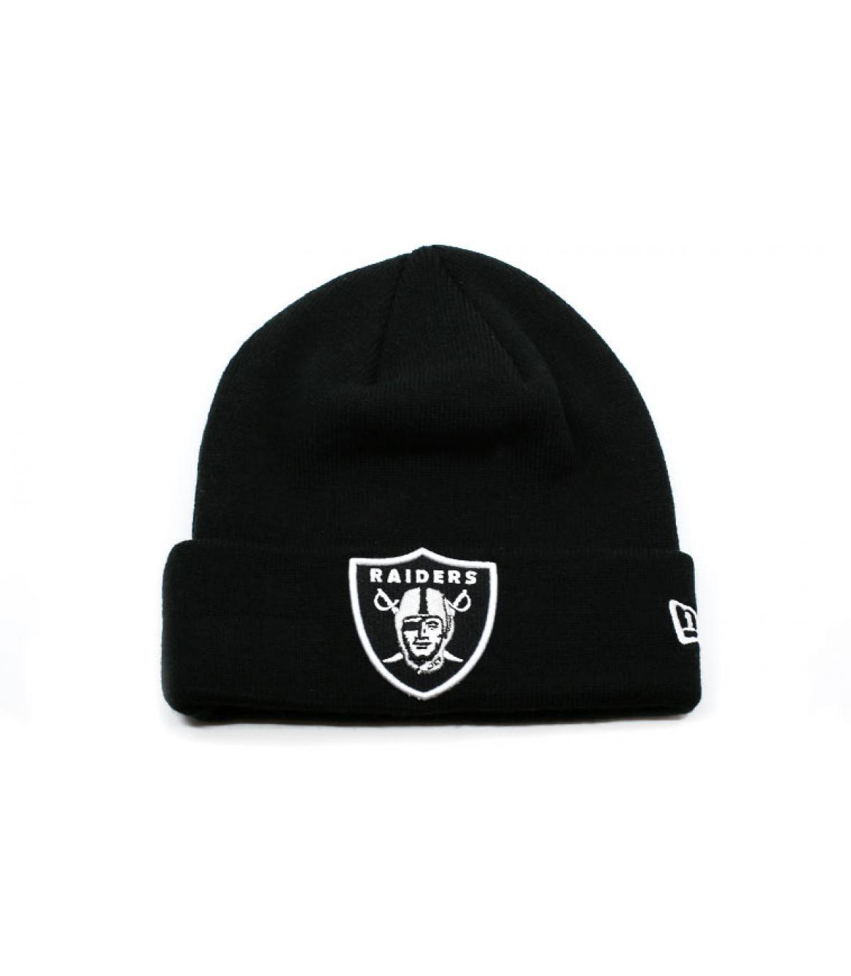 bonnet revers noir Raiders