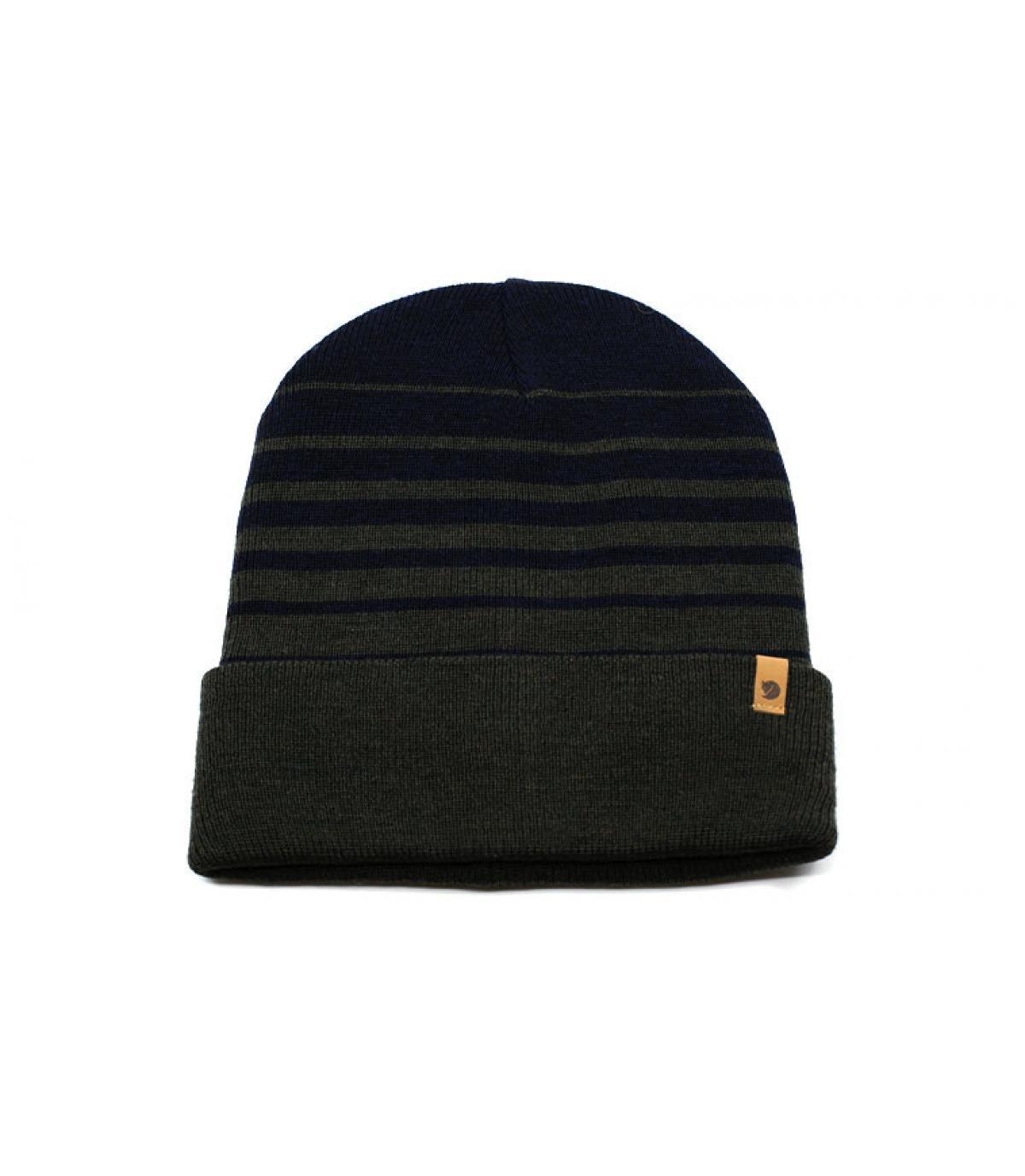 bonnet revers bleu marine laine