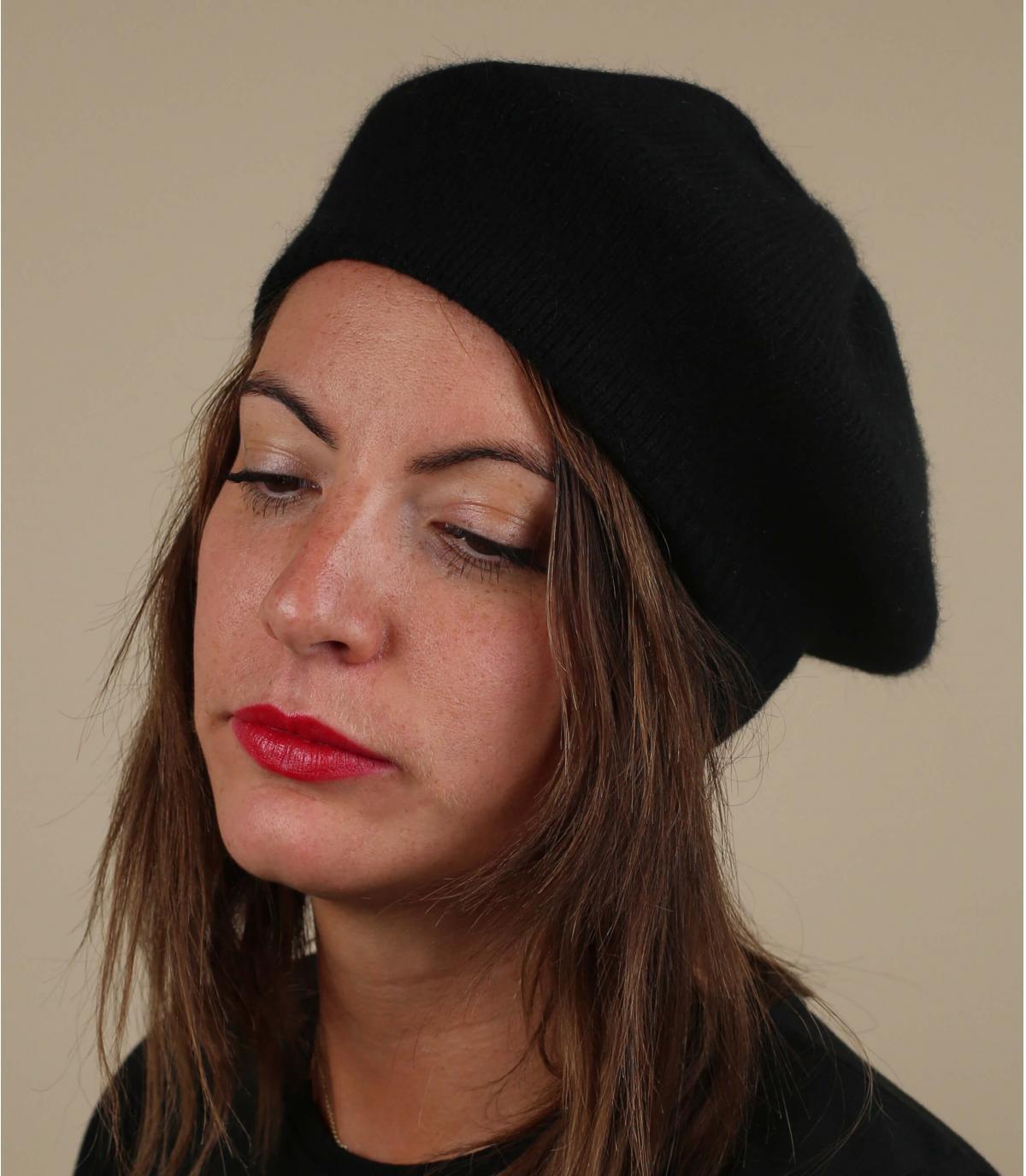 béret basque noir laine