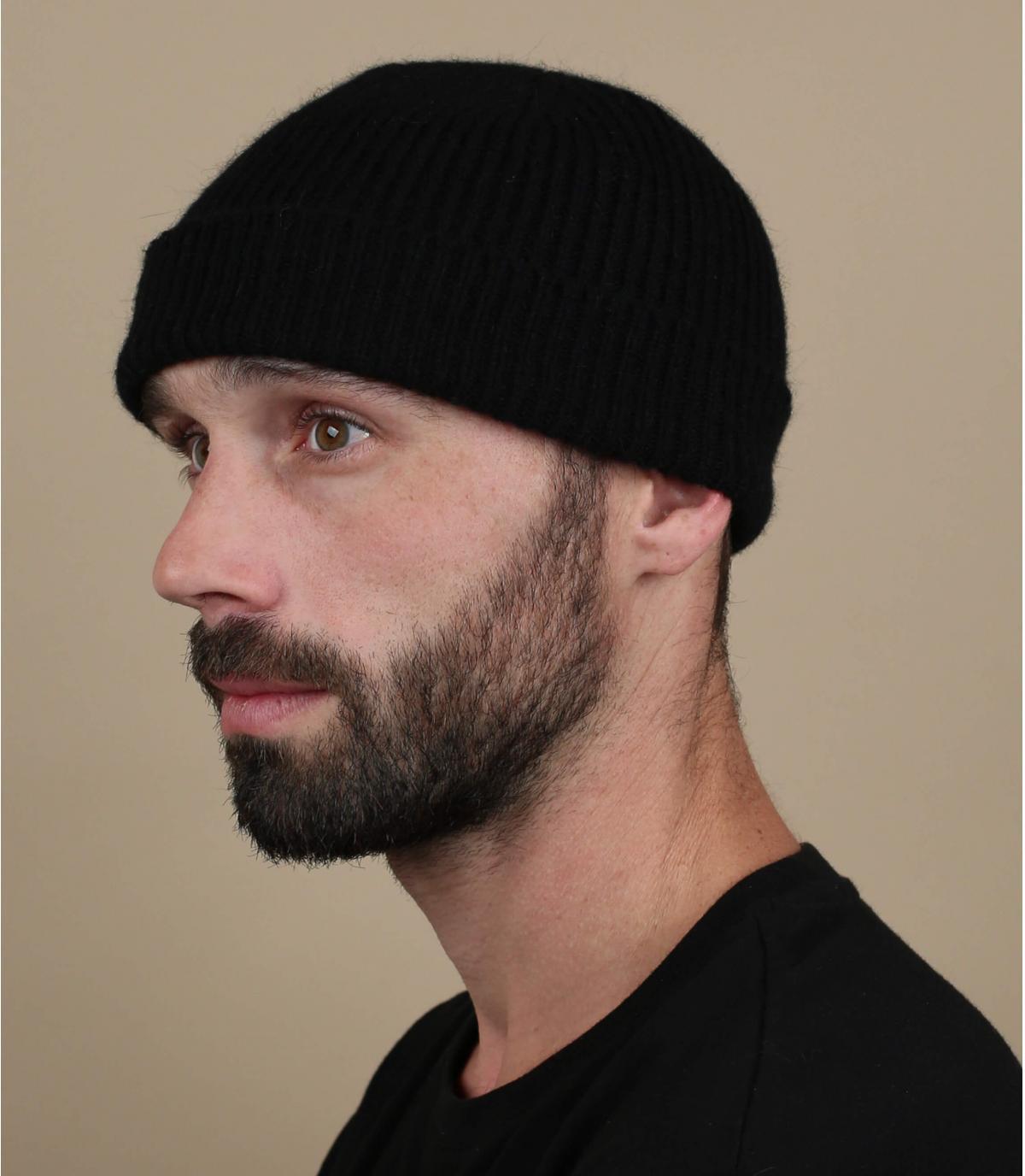 bonnet docker noir laine