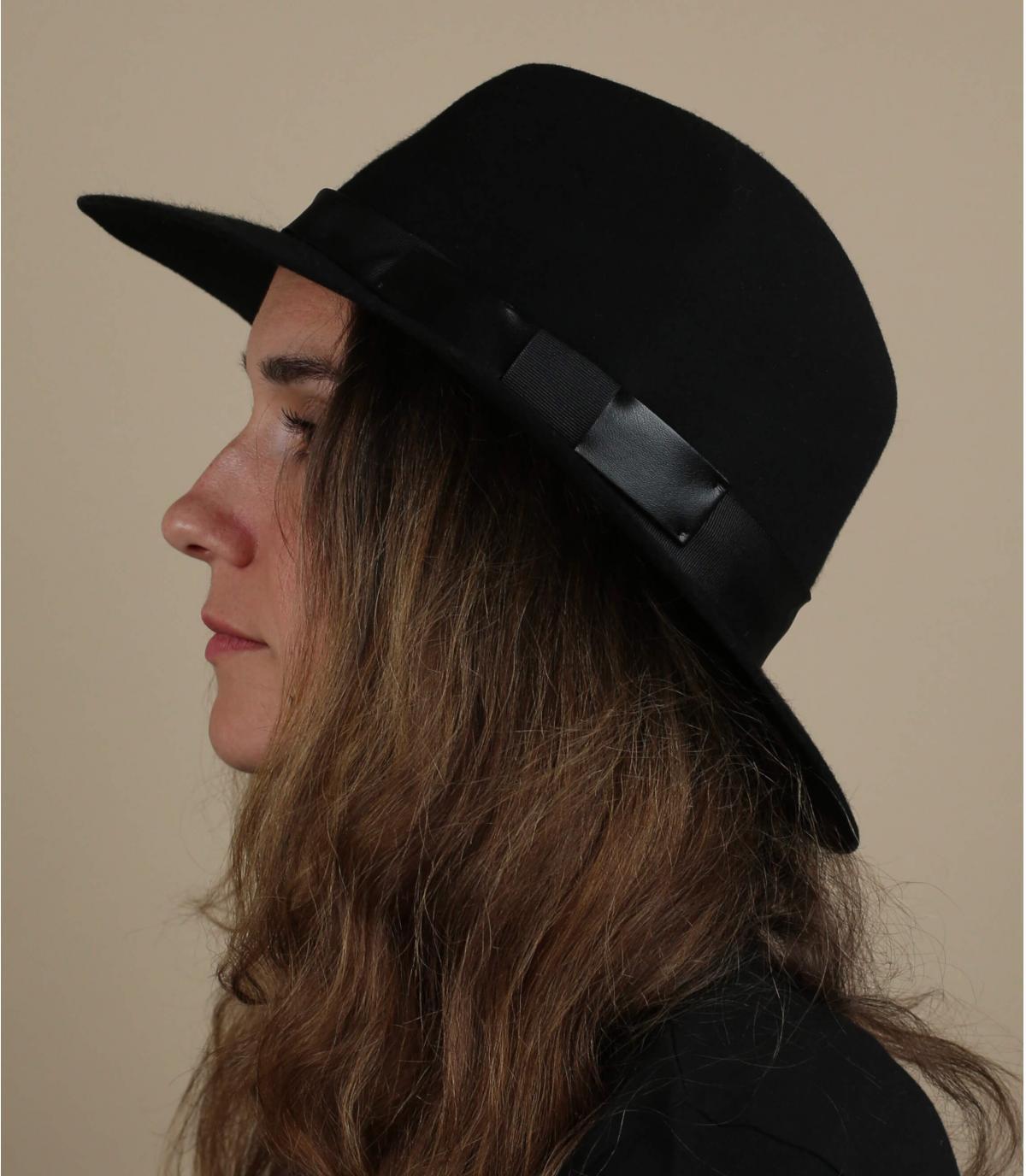 chapeau fedora noir feutre