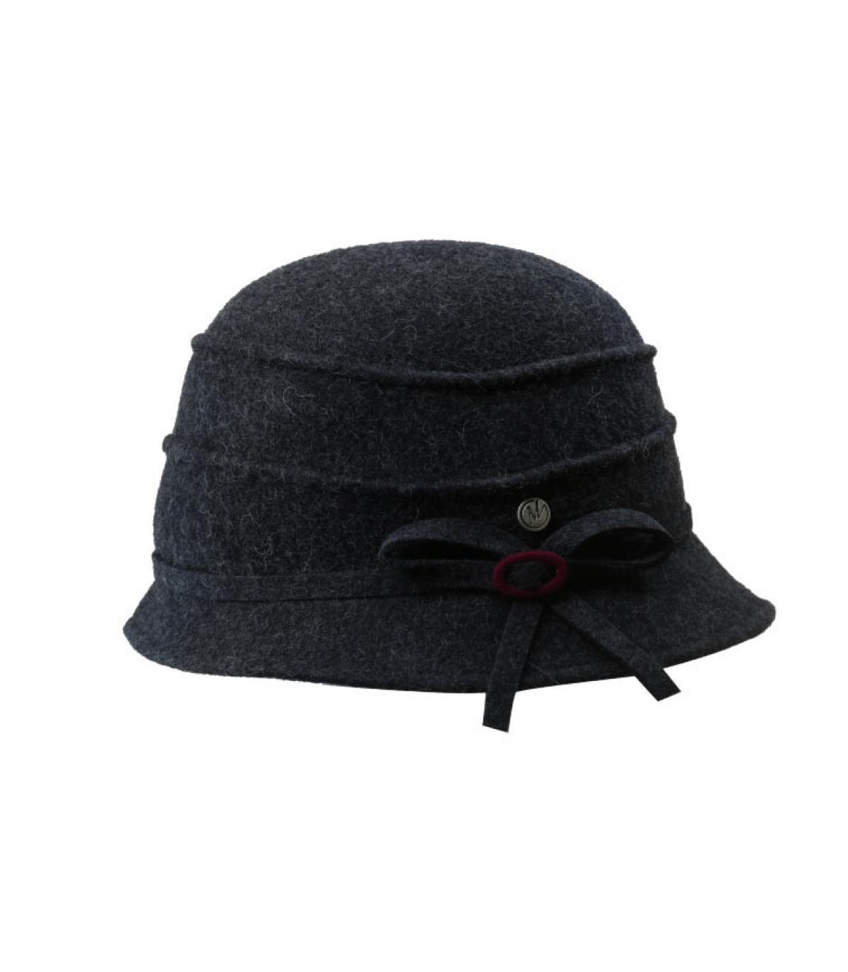 chapeau cloche gris laine