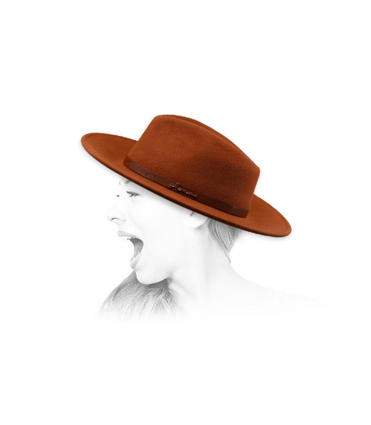 fédora orange Herman
