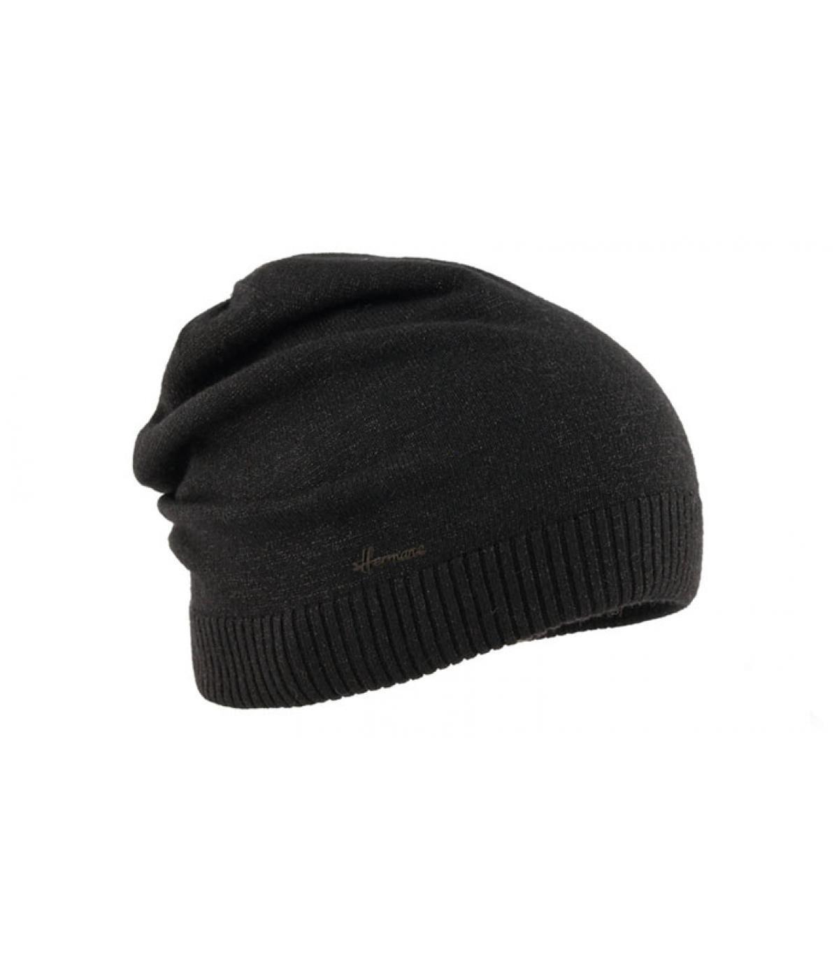 bonnet long noir lurex
