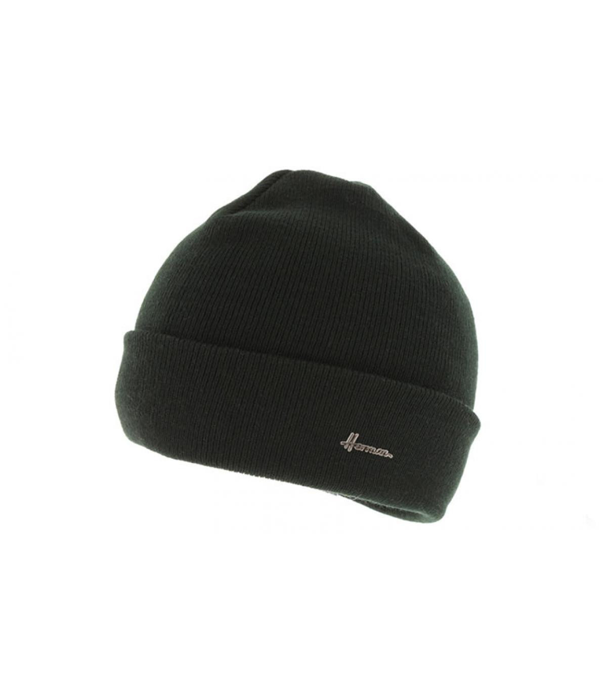bonnet revers noir