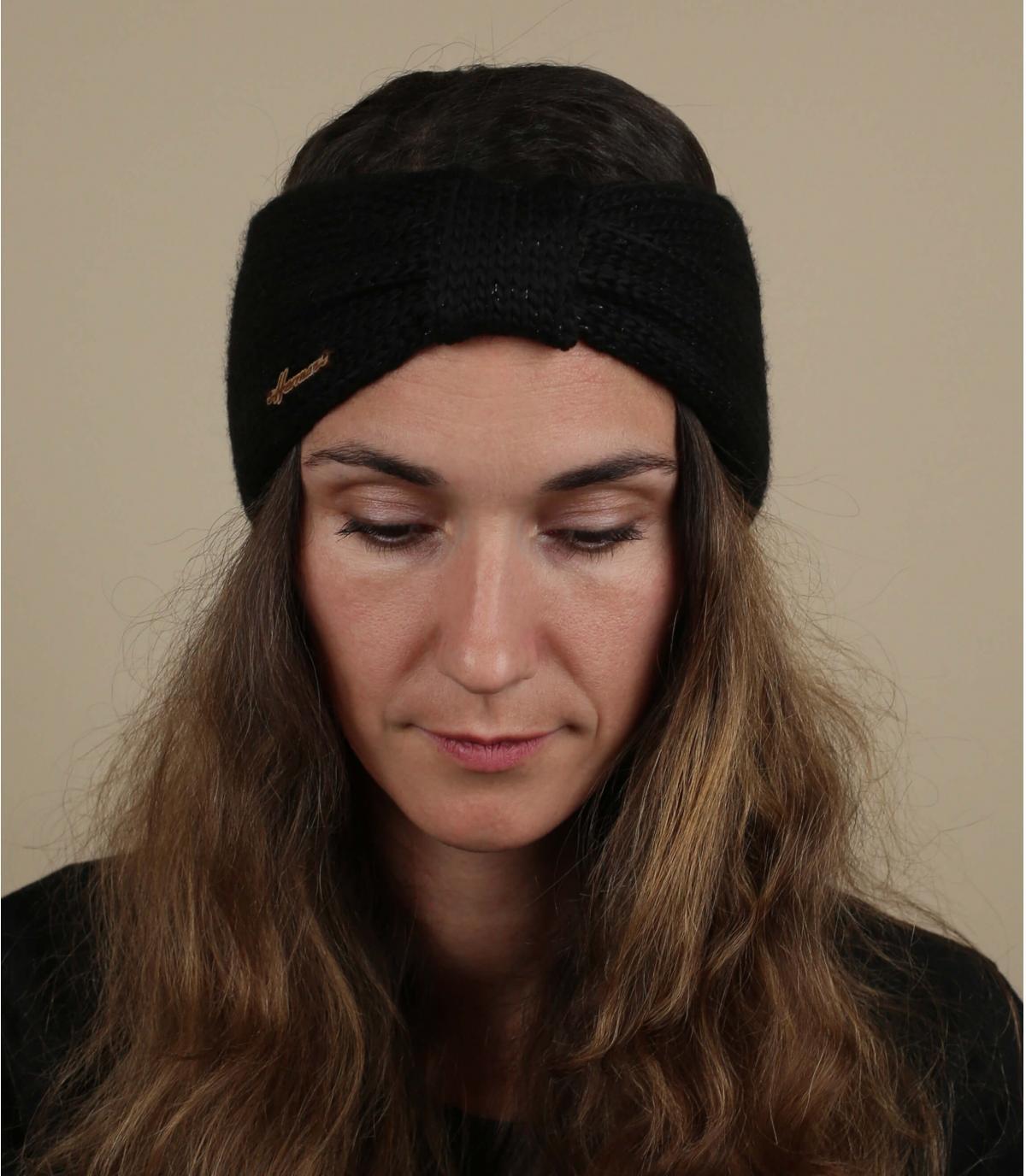 bandeau noir laine lurex