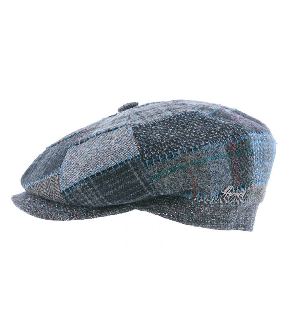 béret gavroche bleu patchwork