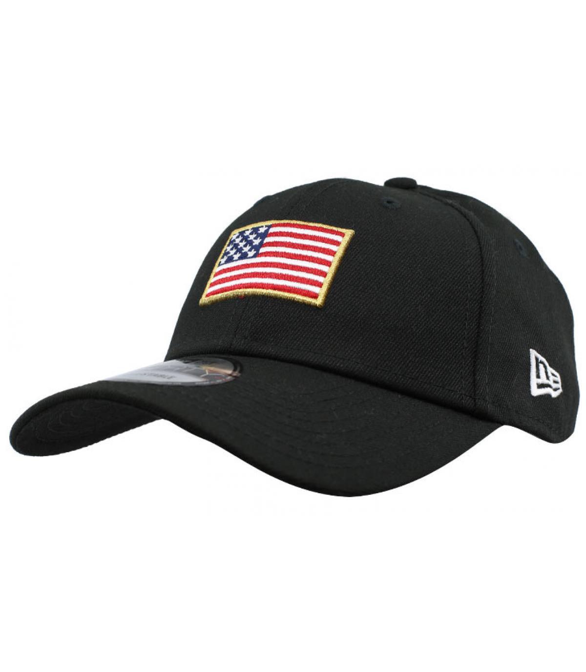 casquette drapeau US noir