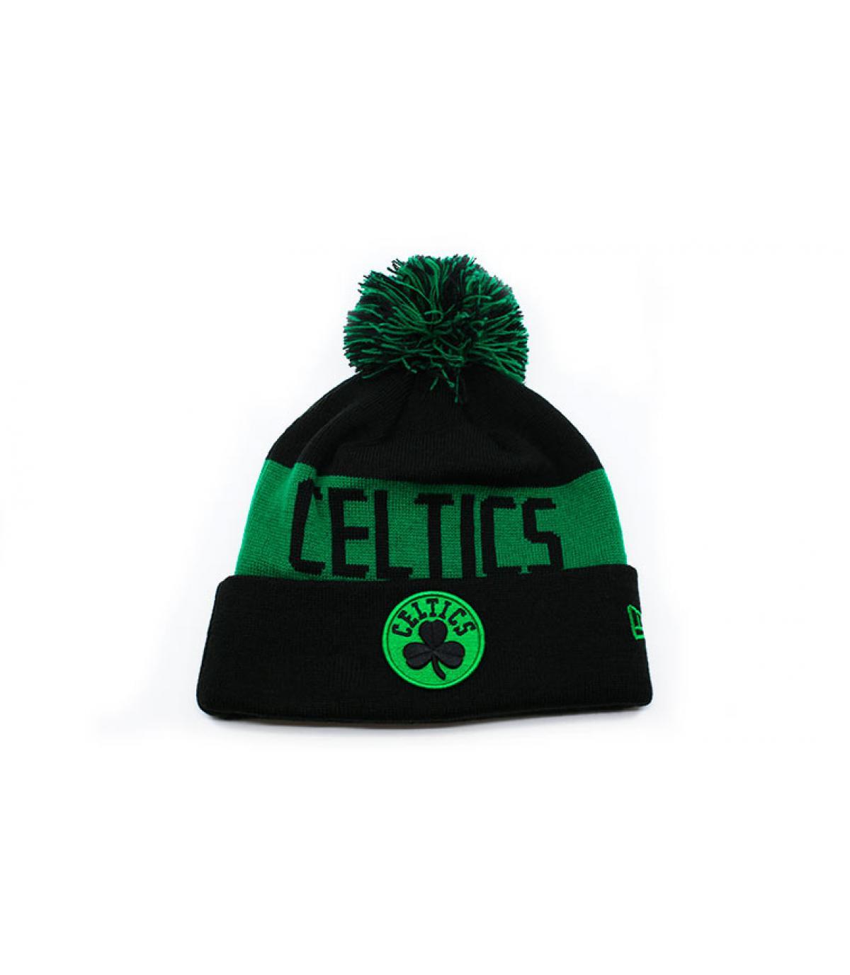 bonnet revers Celtics noir vert