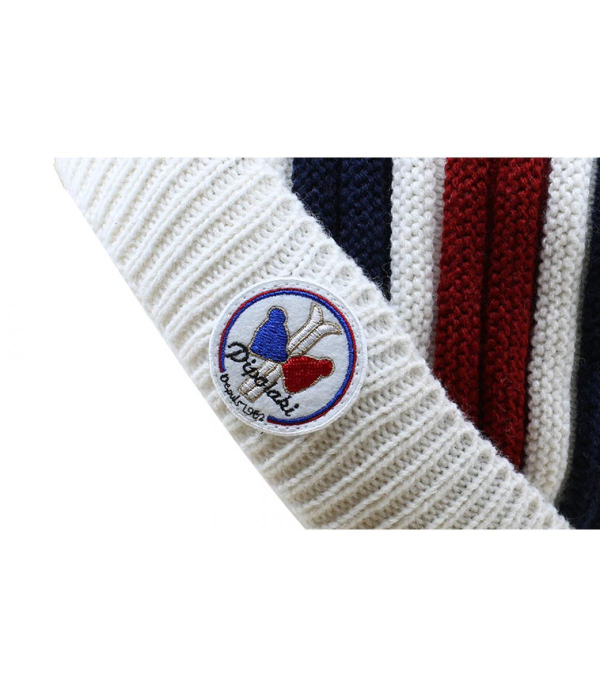 bonnet rayures tricolore
