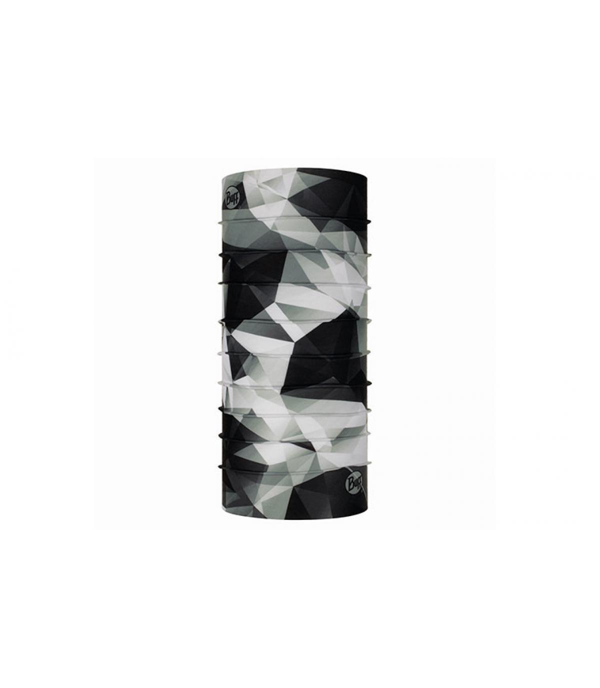 Buff noir blanc imprimé géométrique