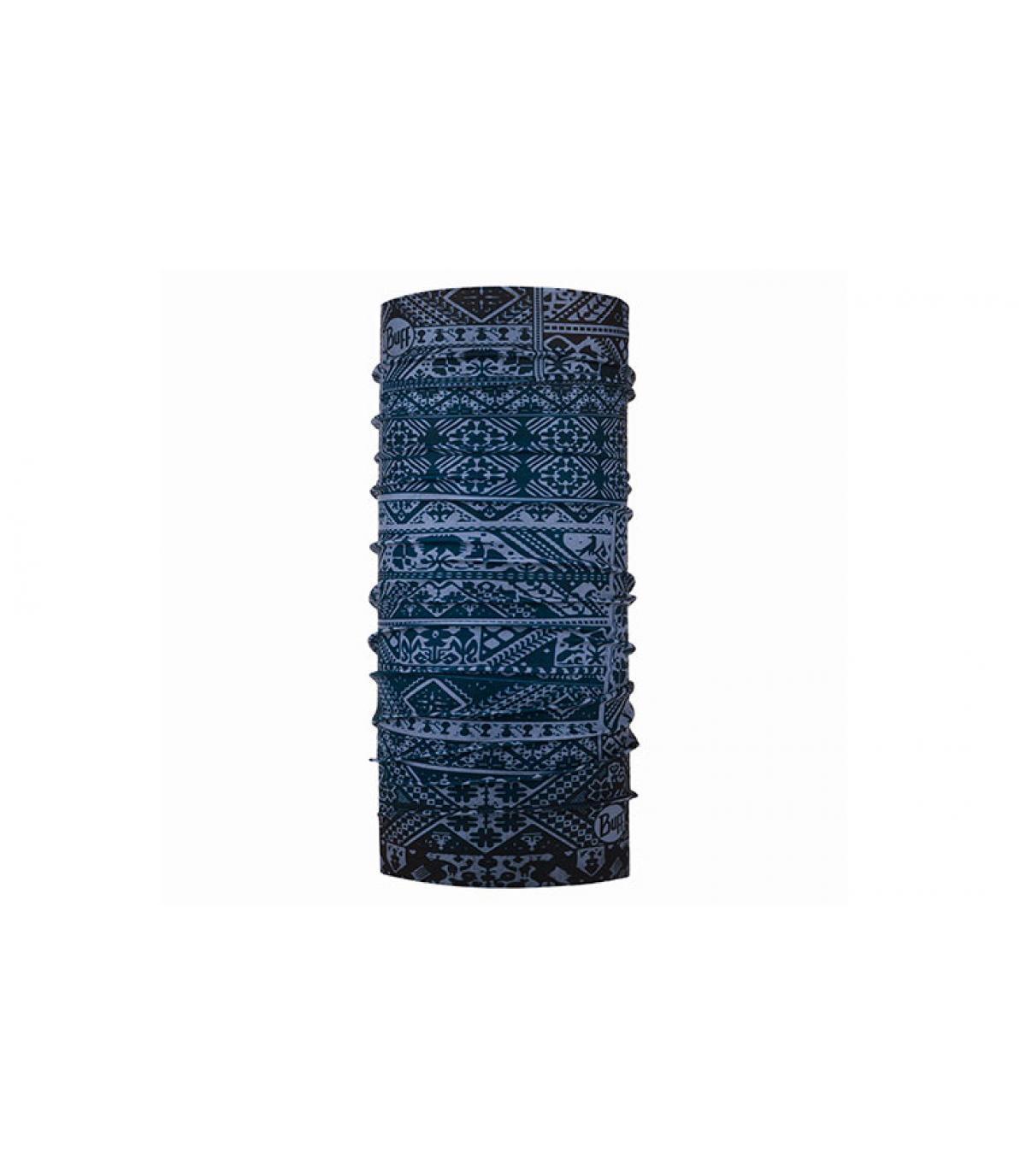 Buff motif bleu