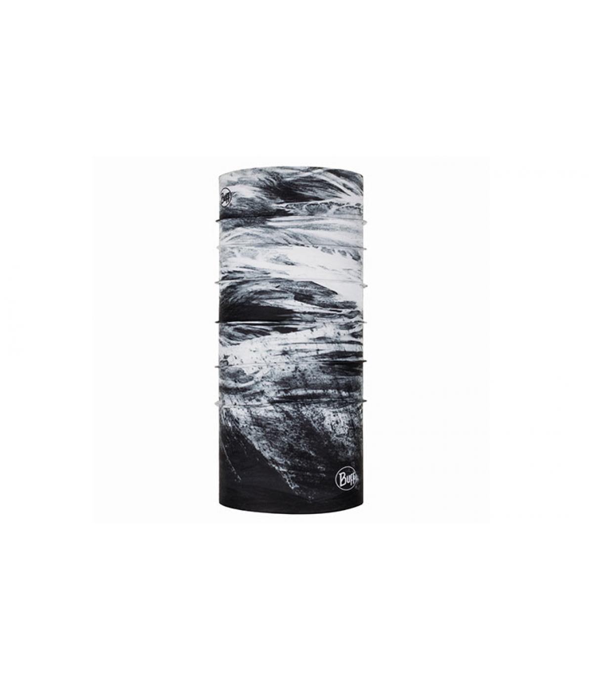 Buff imprimé noir blanc