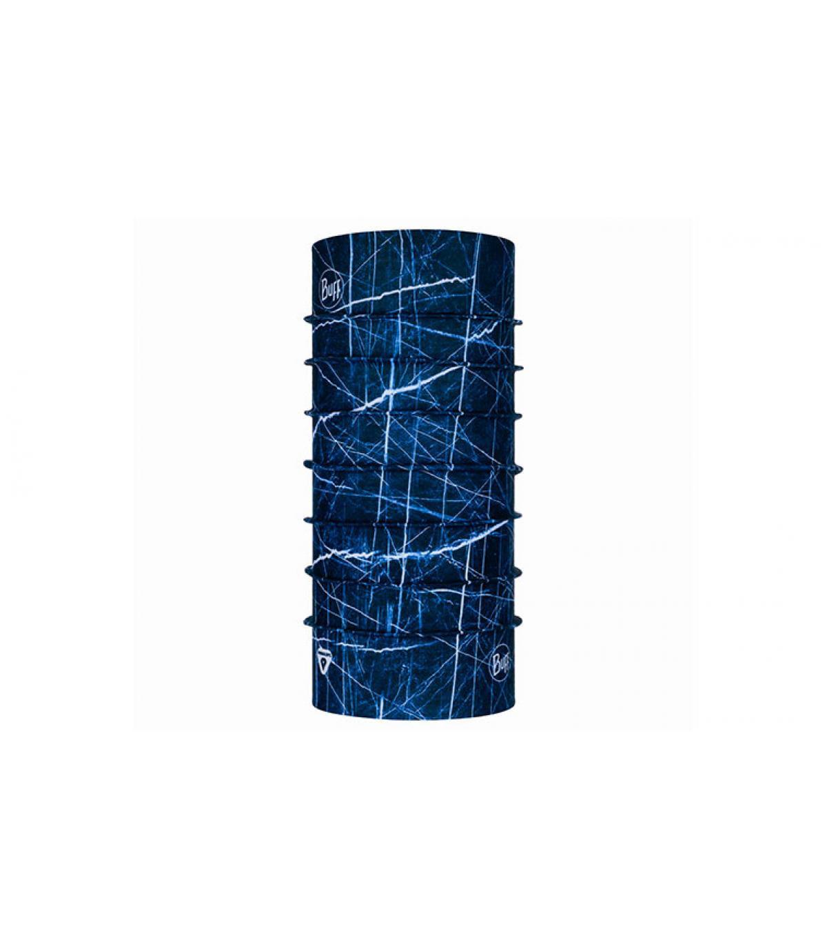 Buff chaud imprimé bleu