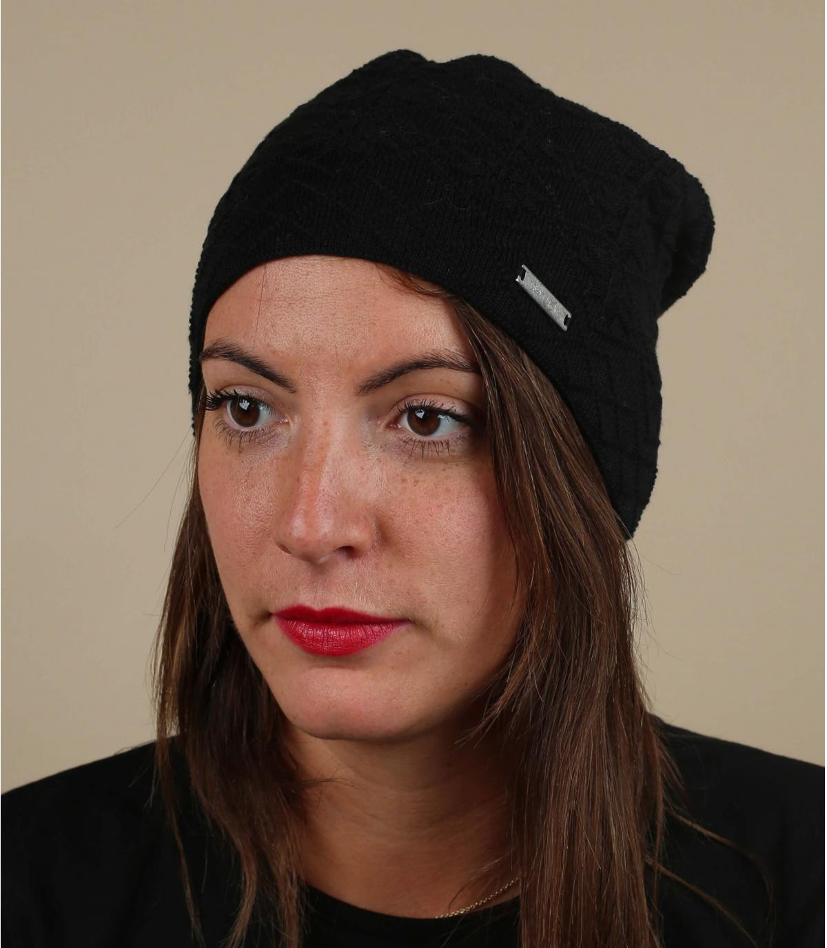 bonnet coton bio noir