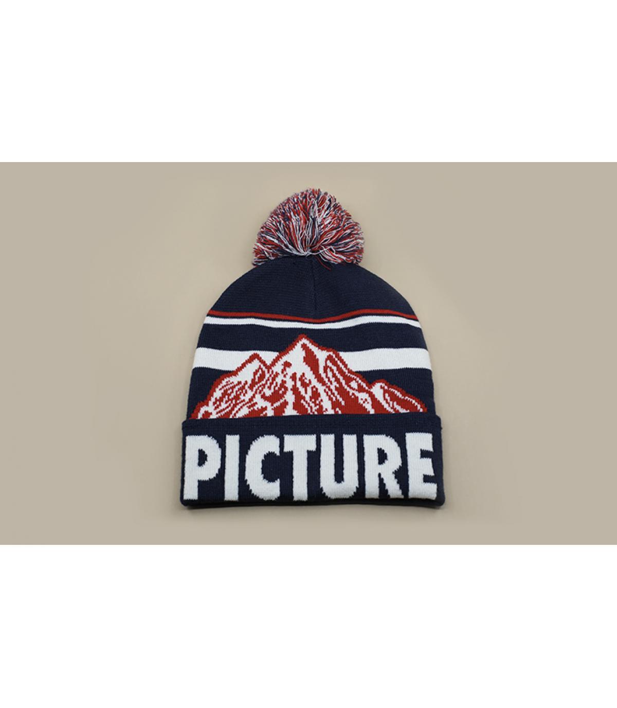 bonnet pompon Picture montagne
