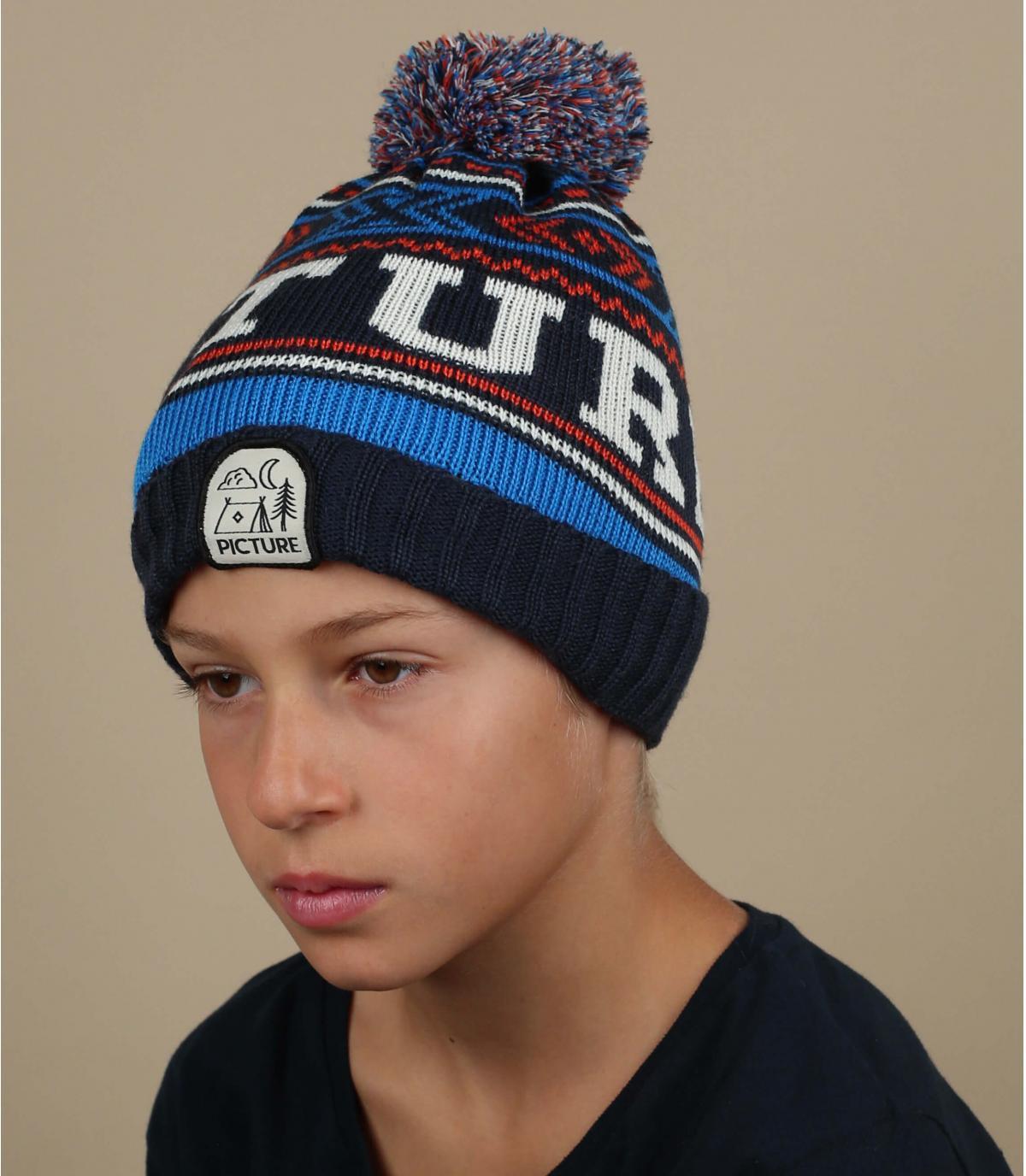 bonnet bleu enfant Picture