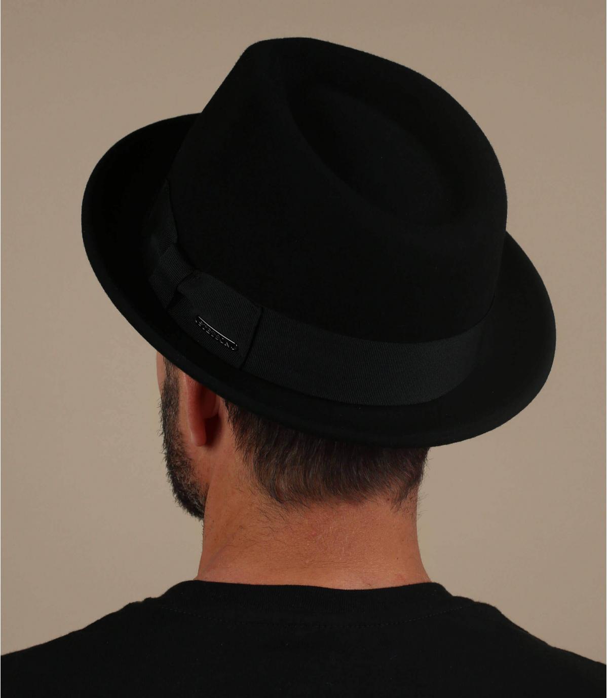 trilby noir laine cachemire