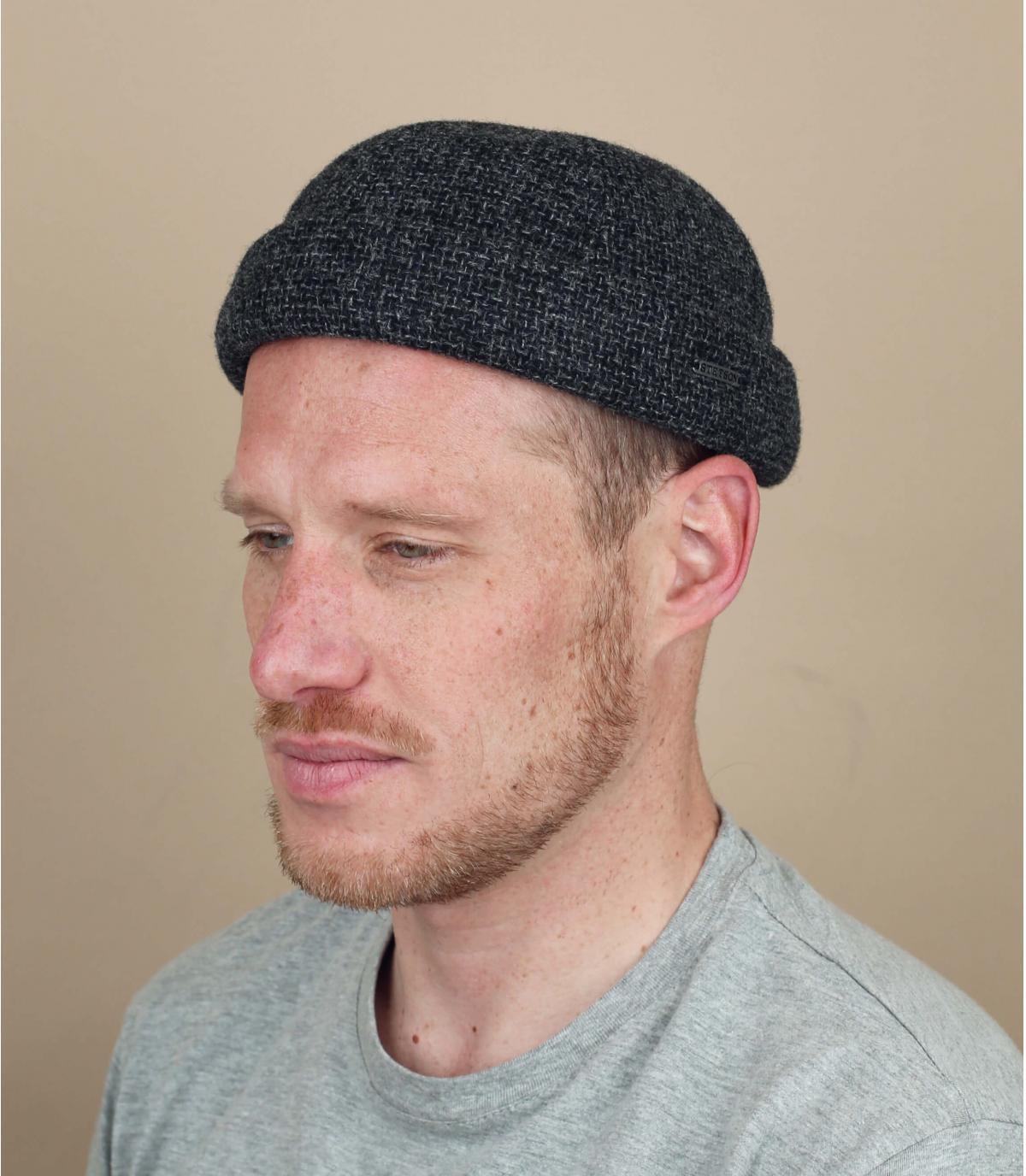 bonnet docker laine gris