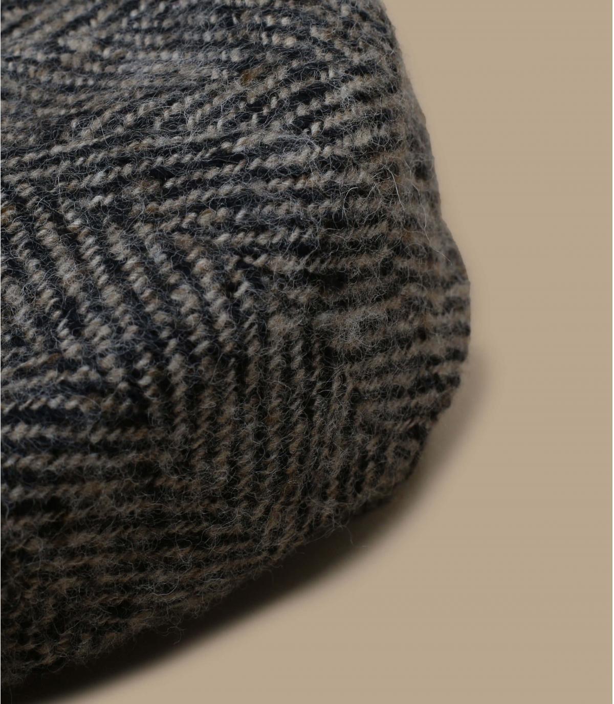 casquette gavroche beige noir laine
