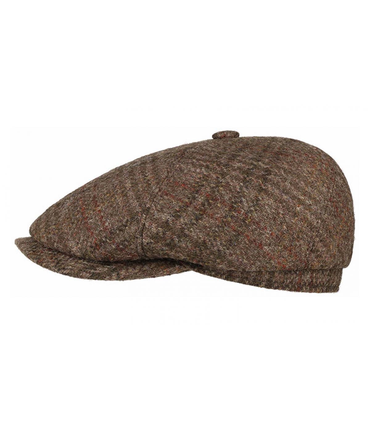 casquette gavroche Harris Tweed laine