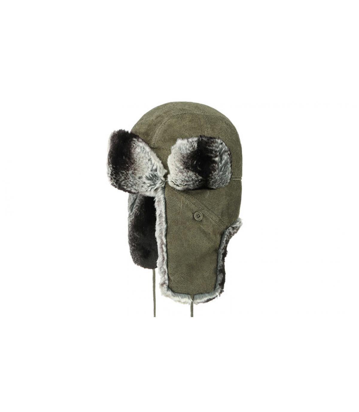 Détails Bomber Cap Pigskin olive - image 2