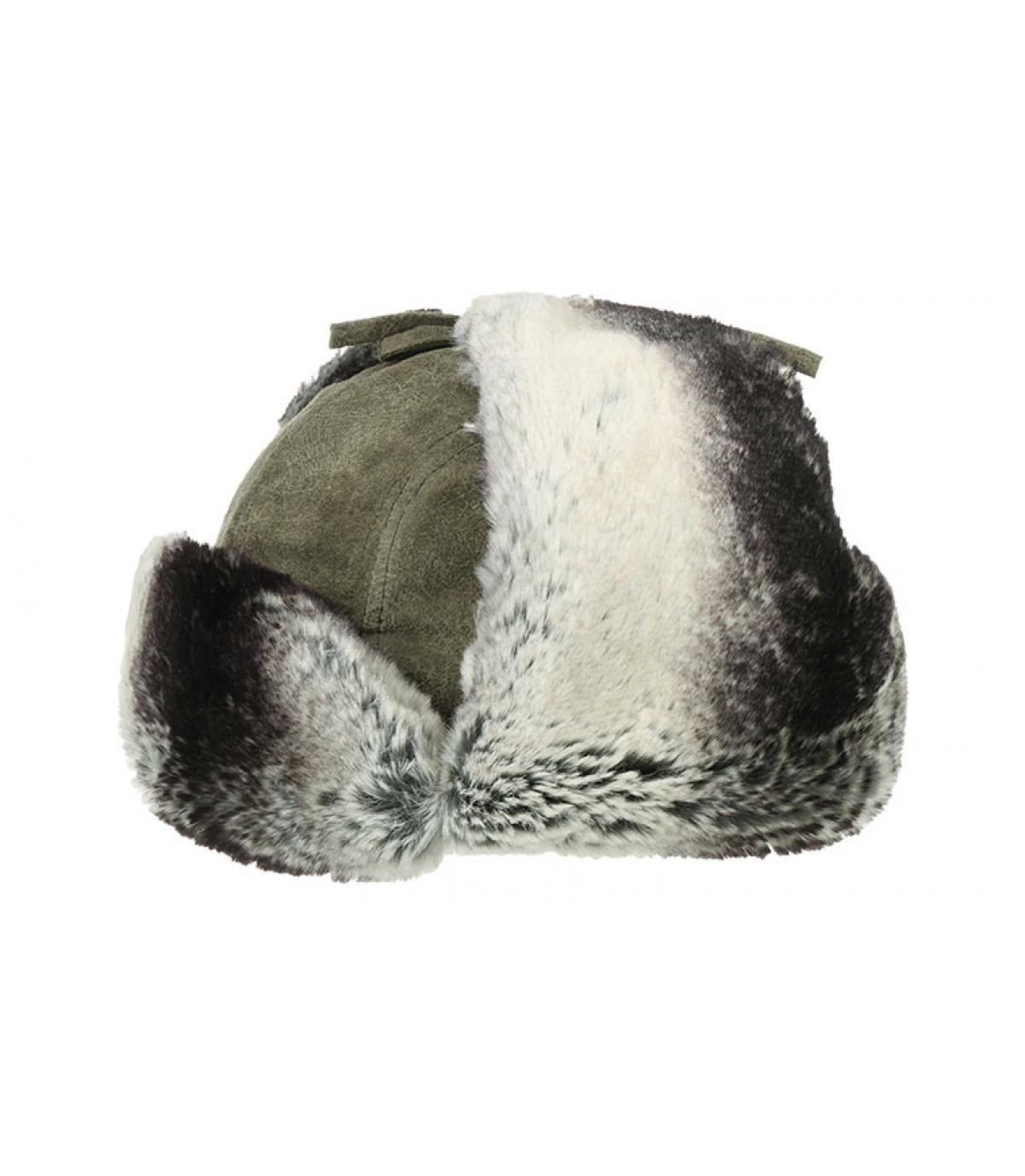 Détails Bomber Cap Pigskin olive - image 4