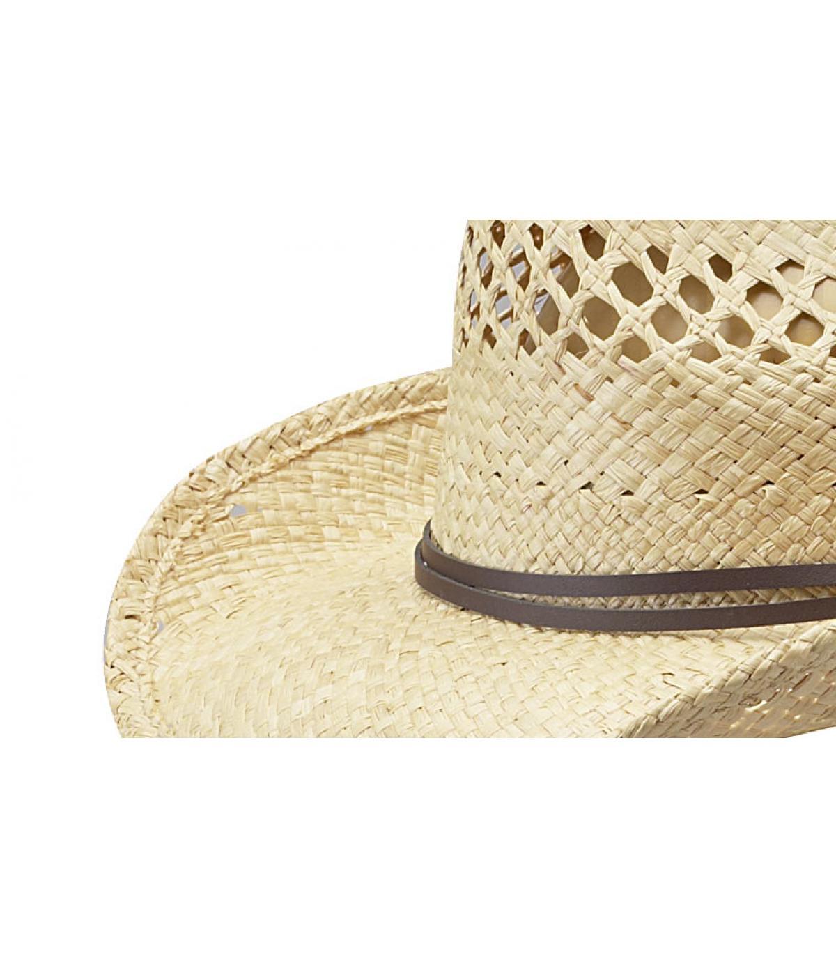 chapeau cowboys paille stetson chapeau femme larimore raffia par stetson. Black Bedroom Furniture Sets. Home Design Ideas