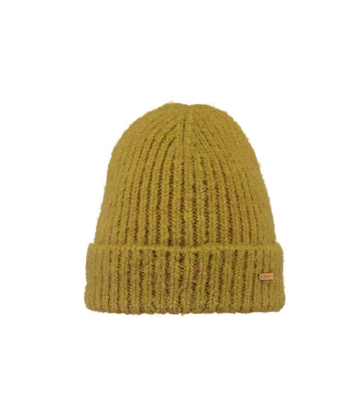 bonnet revers jaune moutarde