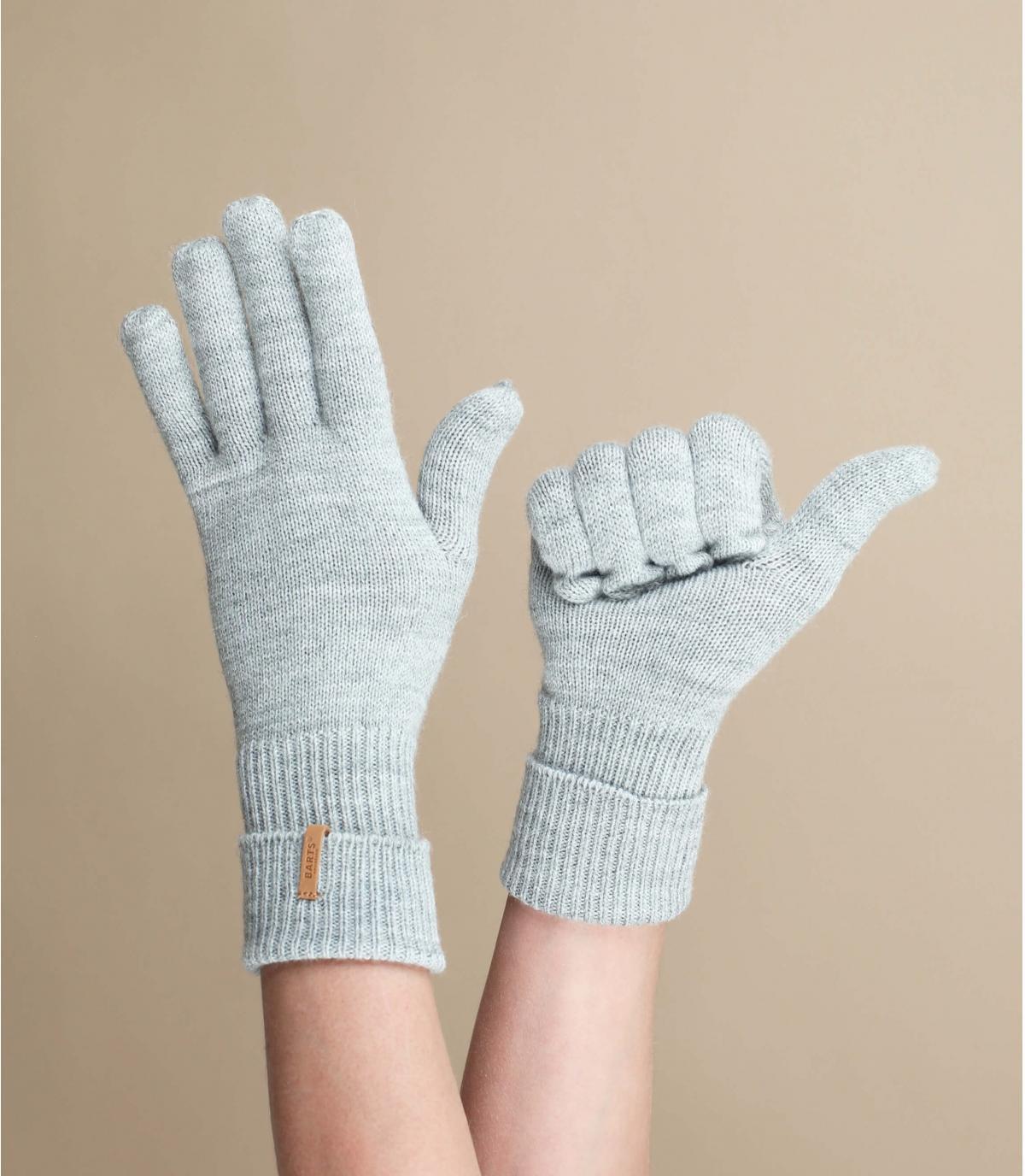 gants gris chiné