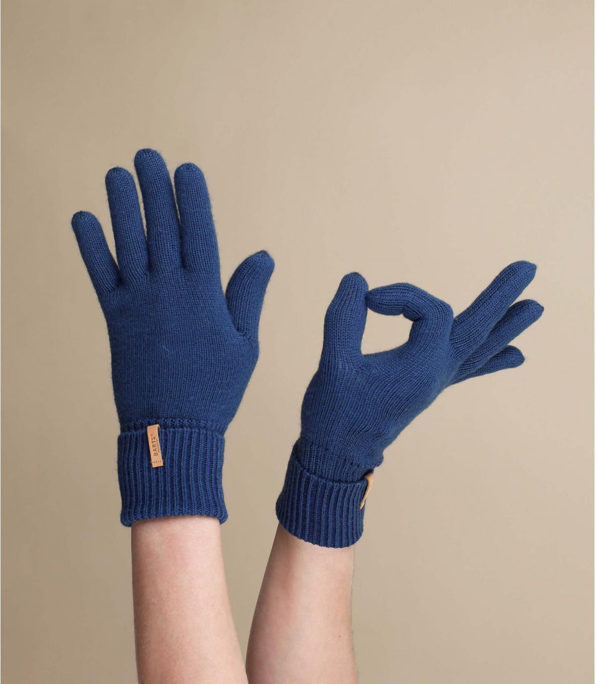 gants bleu marine