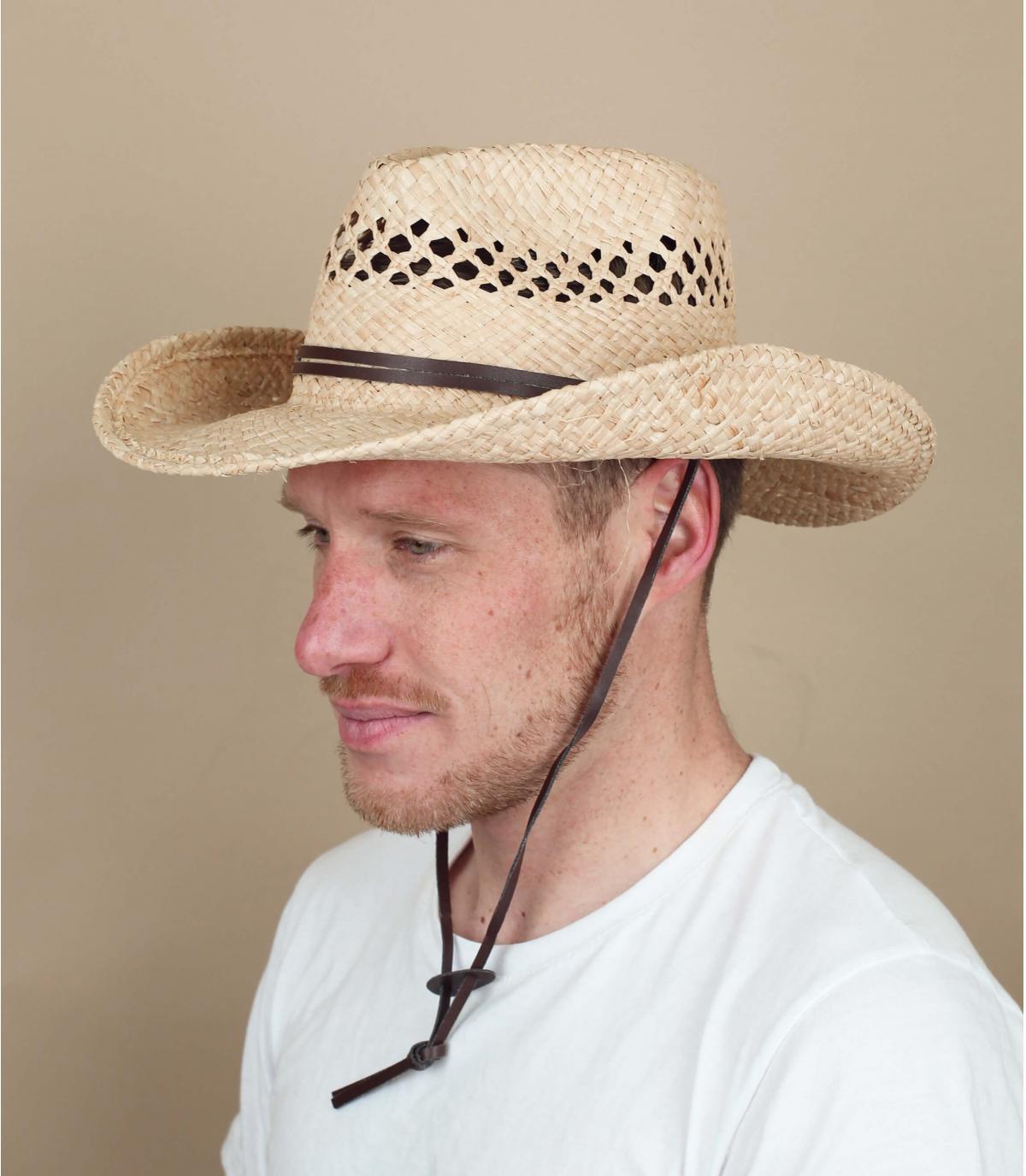 Chapeau Cowboys paille Stetson