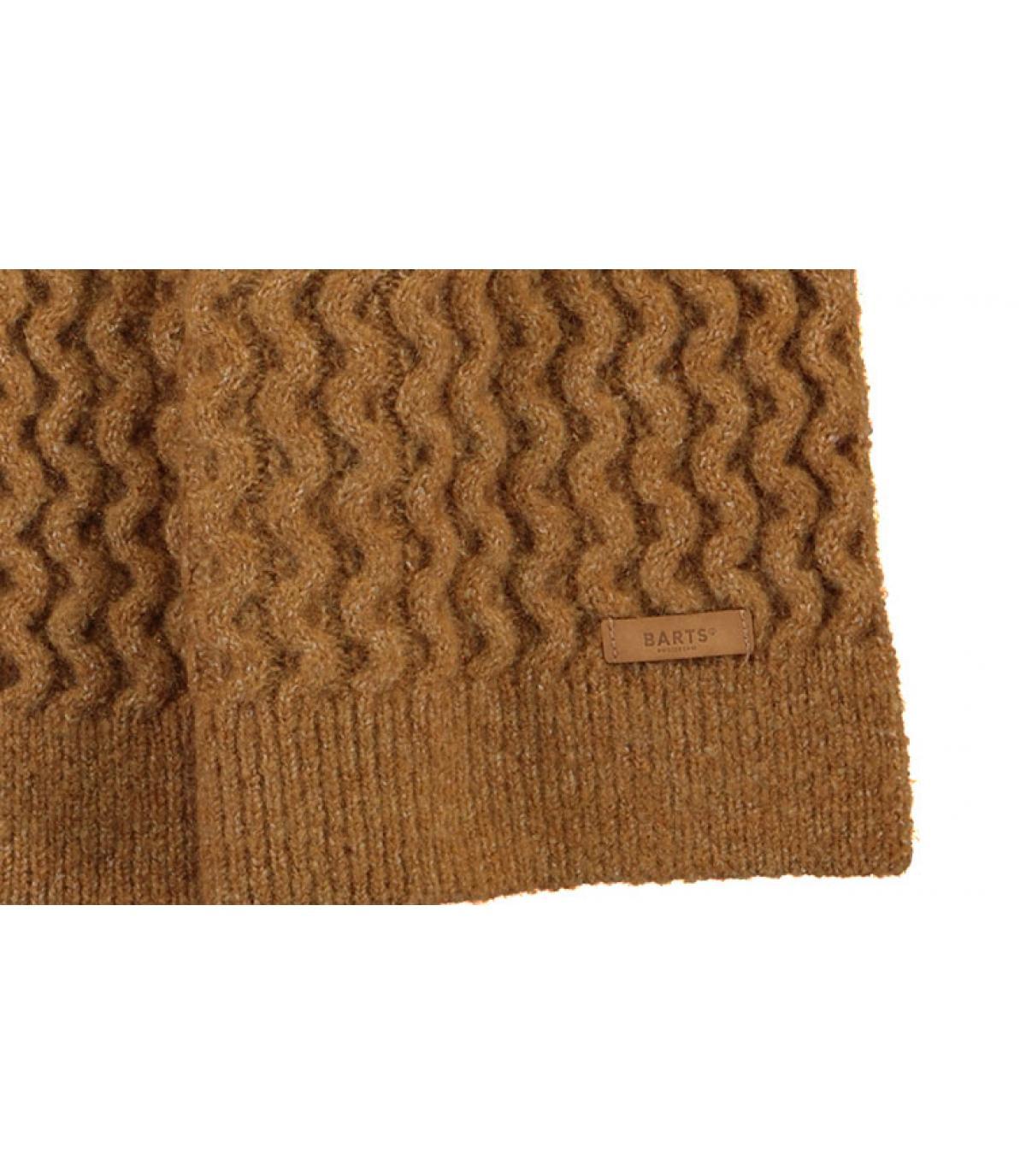 écharpe beige tricot