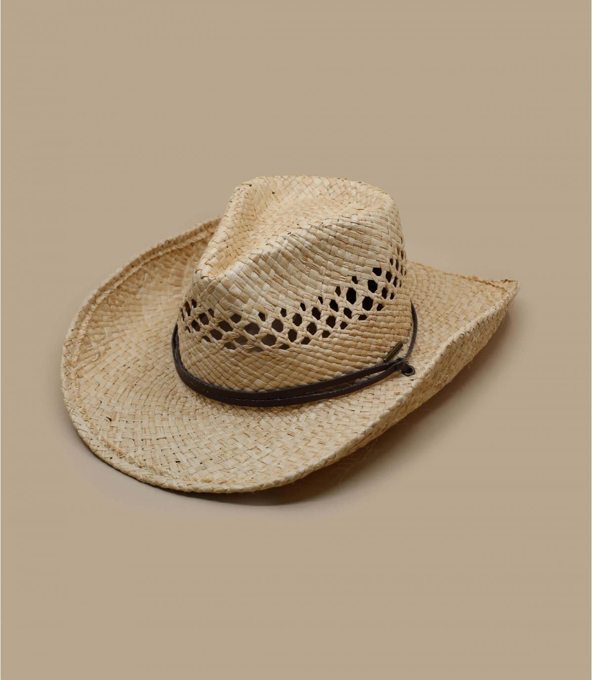 chapeau cowboys paille stetson chapeau larimore raffia par stetson. Black Bedroom Furniture Sets. Home Design Ideas