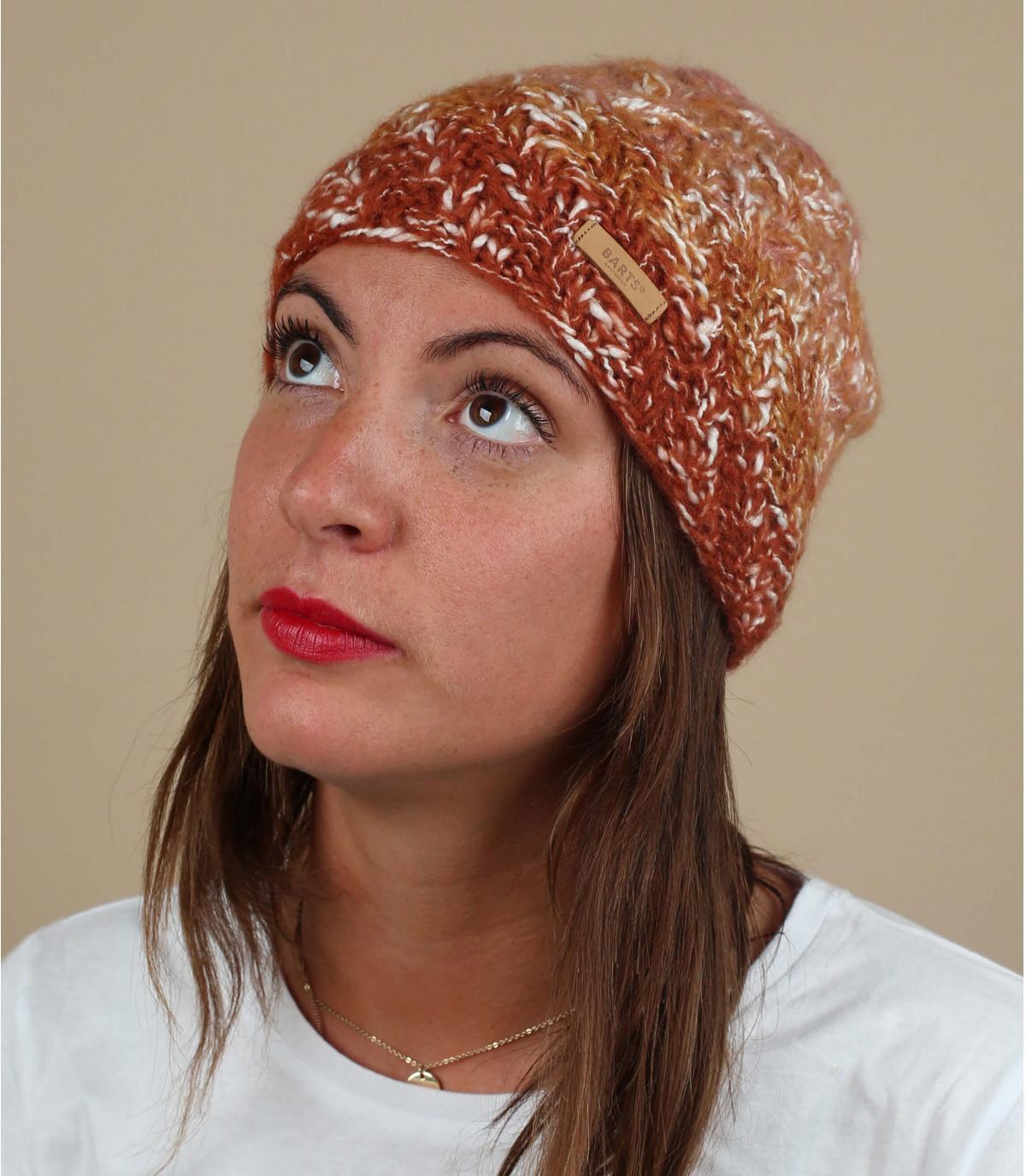 bonnet chiné orange