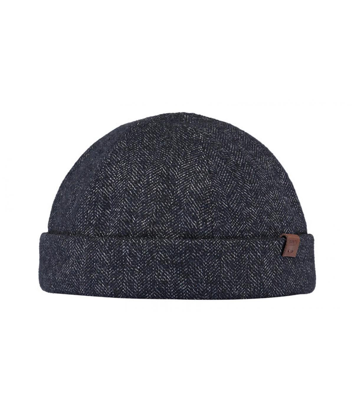 bonnet docker bleu laine