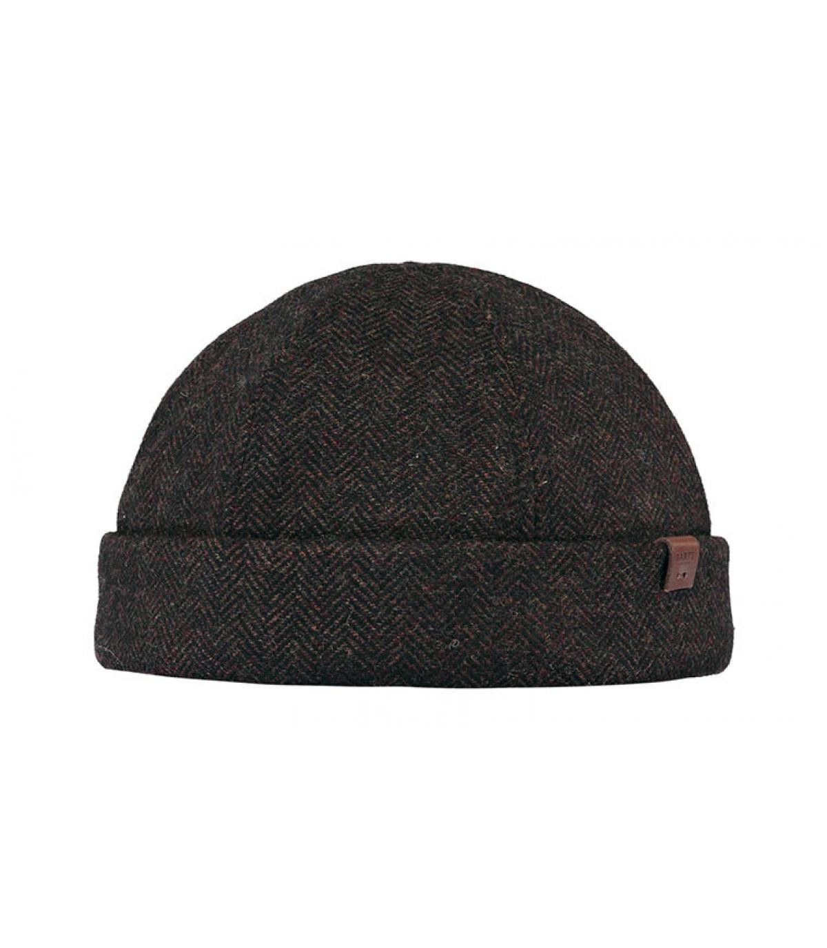 bonnet docker marron laine
