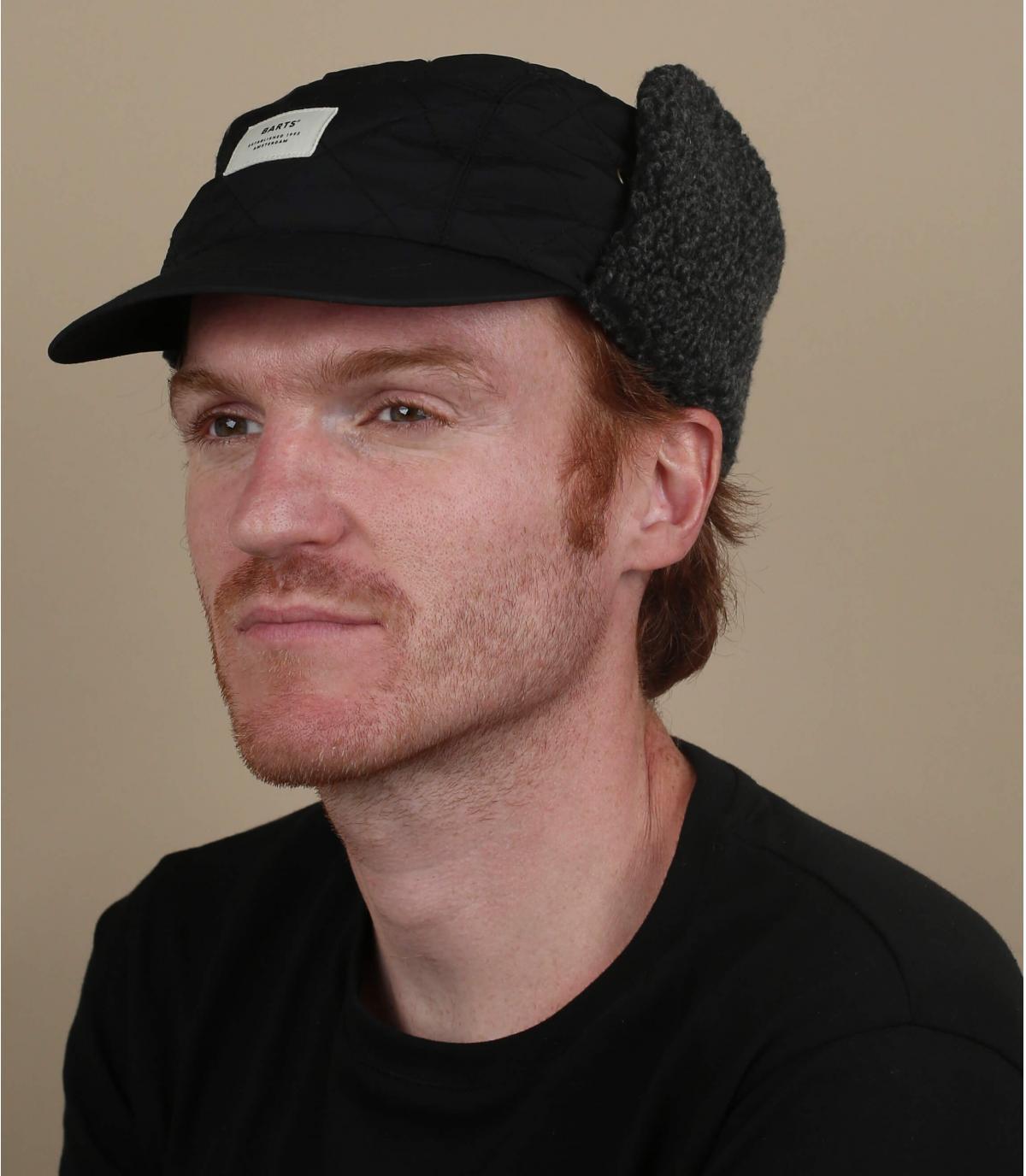 casquettes hiver protège oreille noir