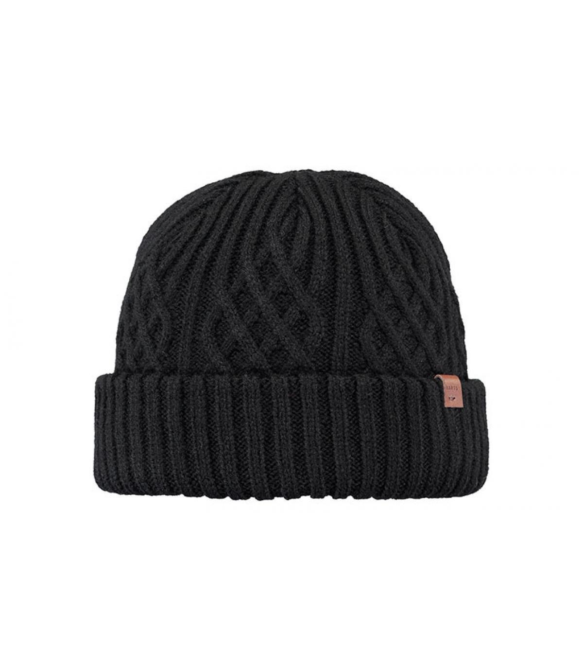 bonnet docker noir torsade