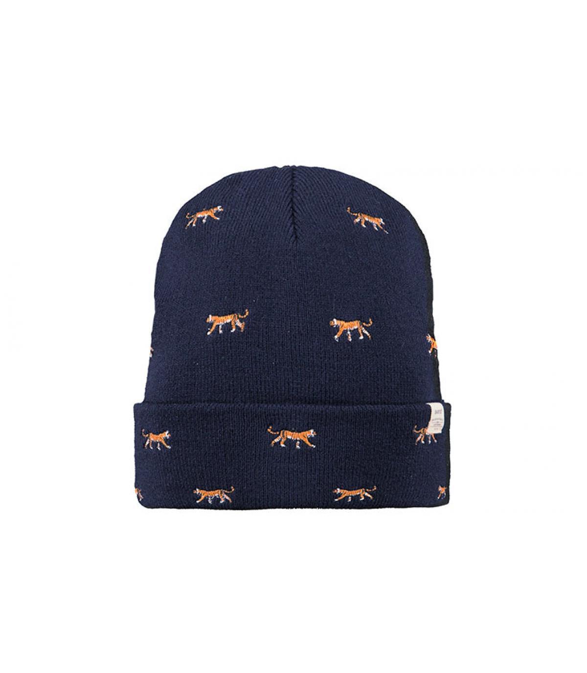 bonnet revers bleu tigres