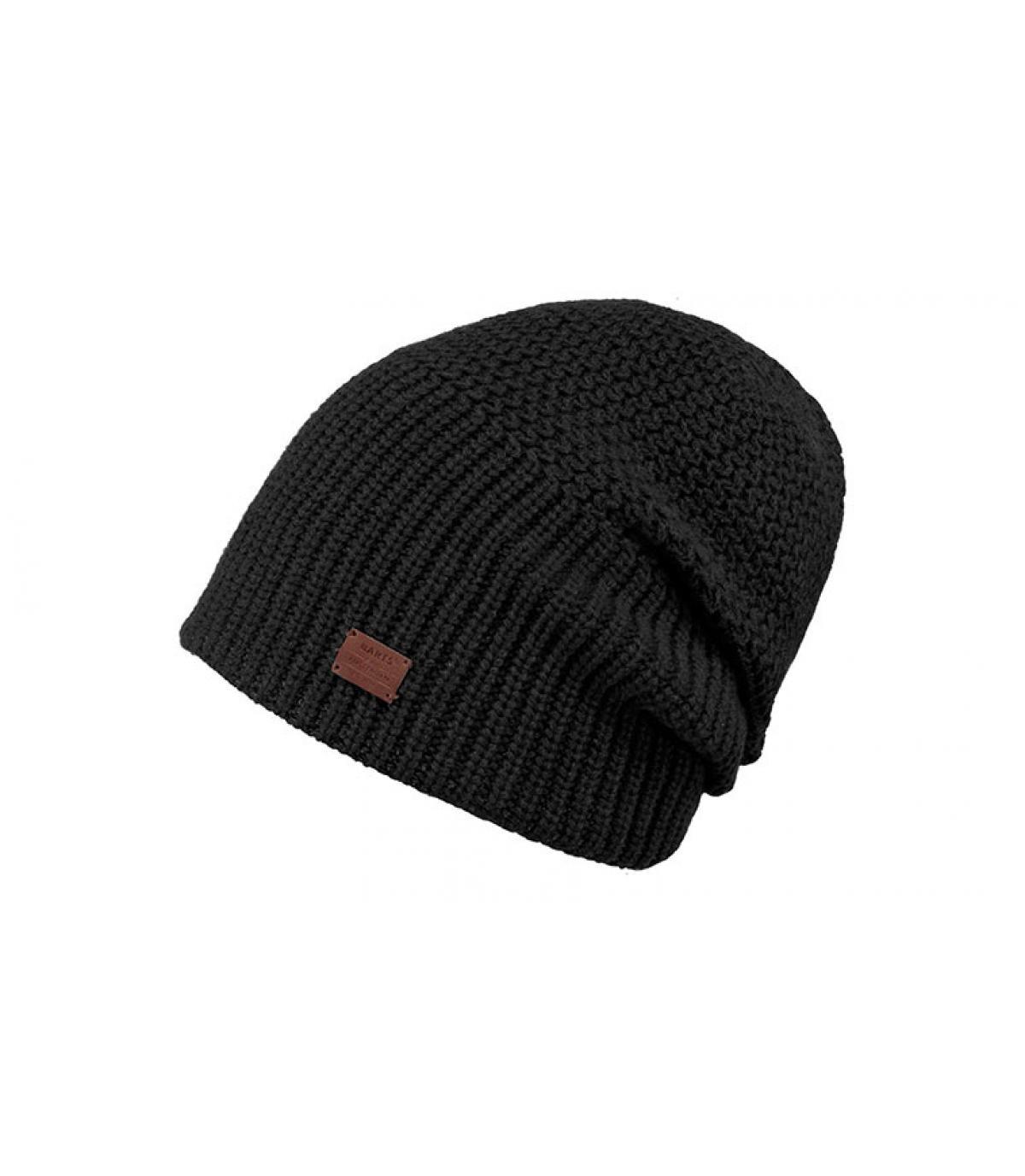 bonnet cachemire laine noir