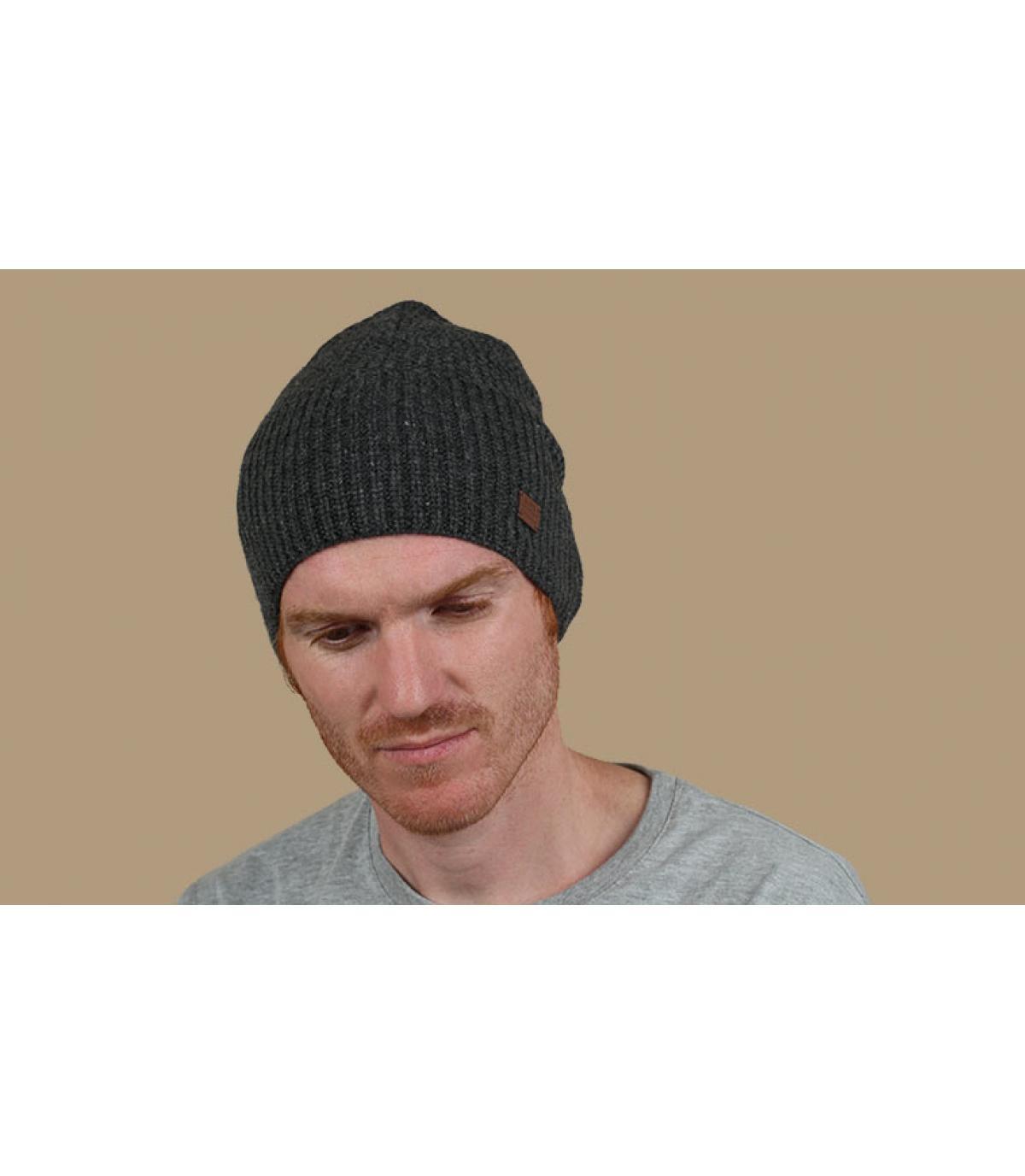 bonnet cachemire laine gris