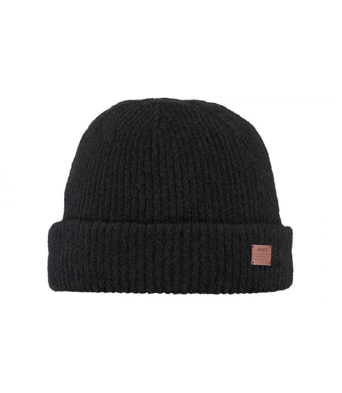 bonnet laine yak noir revers